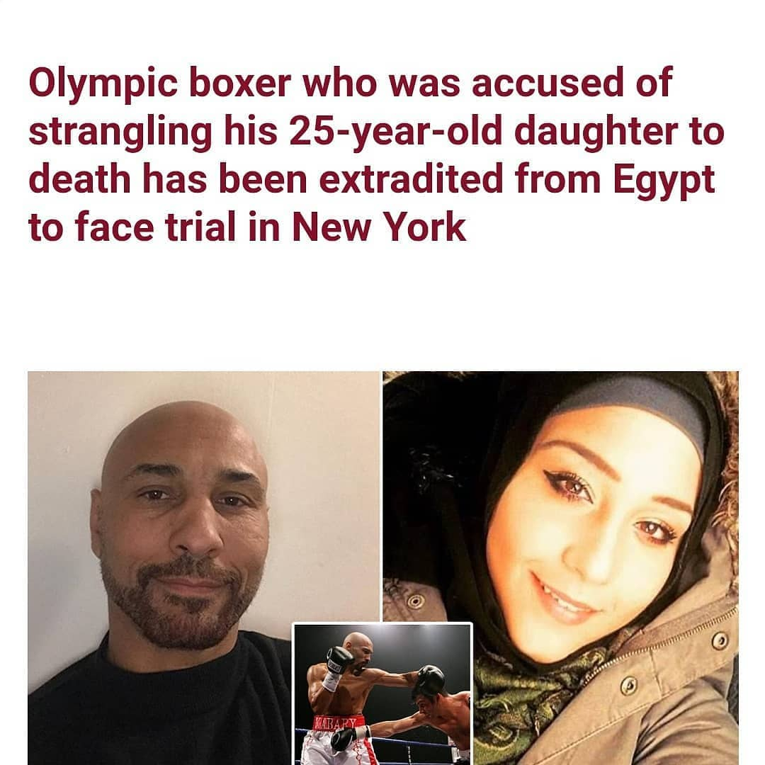 "An Egyptian boxer who represented his country in the Olympics has been extradited from Egypt back to New York to face charges after being accused of murdering his daughter on Staten Island   Kabary Salem, 52, was indicted on November 5, for murdering his 25-year-old daughter Ola Salem in October 2019.  He fled the U.S. shortly after her body was found by a jogger in Staten Island's Bloomingdale Park.  The fully-clothed body was said to have been dragged through the woods some 30 feet, then covered in leaves.  In March he posted on Instagram: 'I miss you and love you rip my love ola Kabary Salem.'  According to The New York Post, officials of the New York Police Department's regional fugitive task force tracked him down on December 3 in Egypt, and brought him back to New York on Friday.  His daughter, who lived in Rosebank, was an advocate for Muslim women suffering from domestic violence through her volunteer work at the New York City-based Asiyah Women's Center, before her death.   Kabary Salem, as a 24-years-old, fought for Egypt in the 1992 Olympic games in Barcelona as a light-middleweight, online records show. Four years later, as a middleweight, he fought at the 1996 Atlanta summer Olympic games.  The boxer, dubbed ""The Egyptian Magician,"" then turned professional. He maintained a 23-5 record that spanned from 1997 to 2005, according to BoxRec.com, a site that tracks the careers of professional boxers.  He killed one opponent, Randie Carver, in the ring in Kansas City in September 1999 after repeatedly headbutting him.  Carver, who never regained consciousness after being knocked out in the 10th round, died two days later from blunt head trauma."