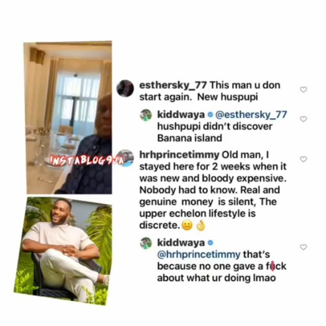 BBN's Kiddwaya tackles those attacking his dad, Terry Waya, for 'always showing' off.