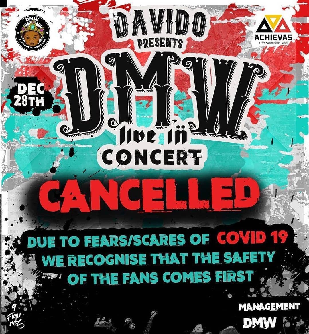 Davido cancels concert due to fears