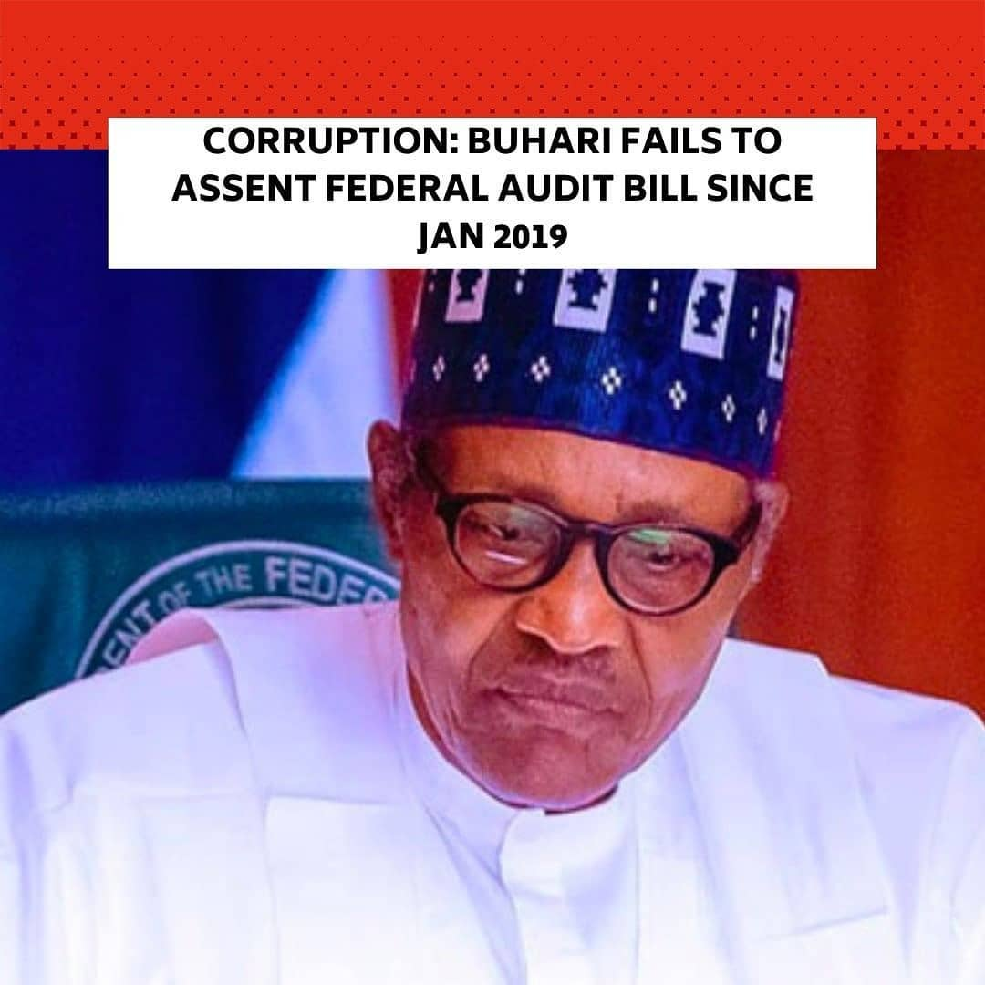 DESPITE his vaunted anti-corruption stance, the President, Major General, Muhammadu Buhari (retd.), has failed to sign the Federal Audit Bill, two years after it was presented to him for assent. . The bill, which was passed by the eighth National Assembly, aims to give legal backing to the Auditor-General of the Federation for effective auditing of all revenues accruing to the federation and expenditures. . It also empowered the Auditor General of the Federation to issue an arrest warrant and penalise officials and agencies which refused to submit their financial statements for audit. . But the Presidency has kept mum over the bill which was passed in 2018 and submitted for assent in January 2019. . Commenting on the failure of the President to sign the bill into law, a former Nigerian ambassador to Austria, Jerry Ugokwe, said Buhari had not communicated to the National Assembly his reason for not assenting the bill. . Ugokwe, who spoke at a breakfast session with journalists on the Federal Audit Bill, organised by the Paradigm Leadership Support Initiative in Abuja on Friday, said the nation was still operating the obsolete Audit Ordinance Act of 1956. . The retired envoy alleged that the President was prevented from assenting the new audit bill by about 10 agencies, which he said refused to attend the public hearing on the bill.