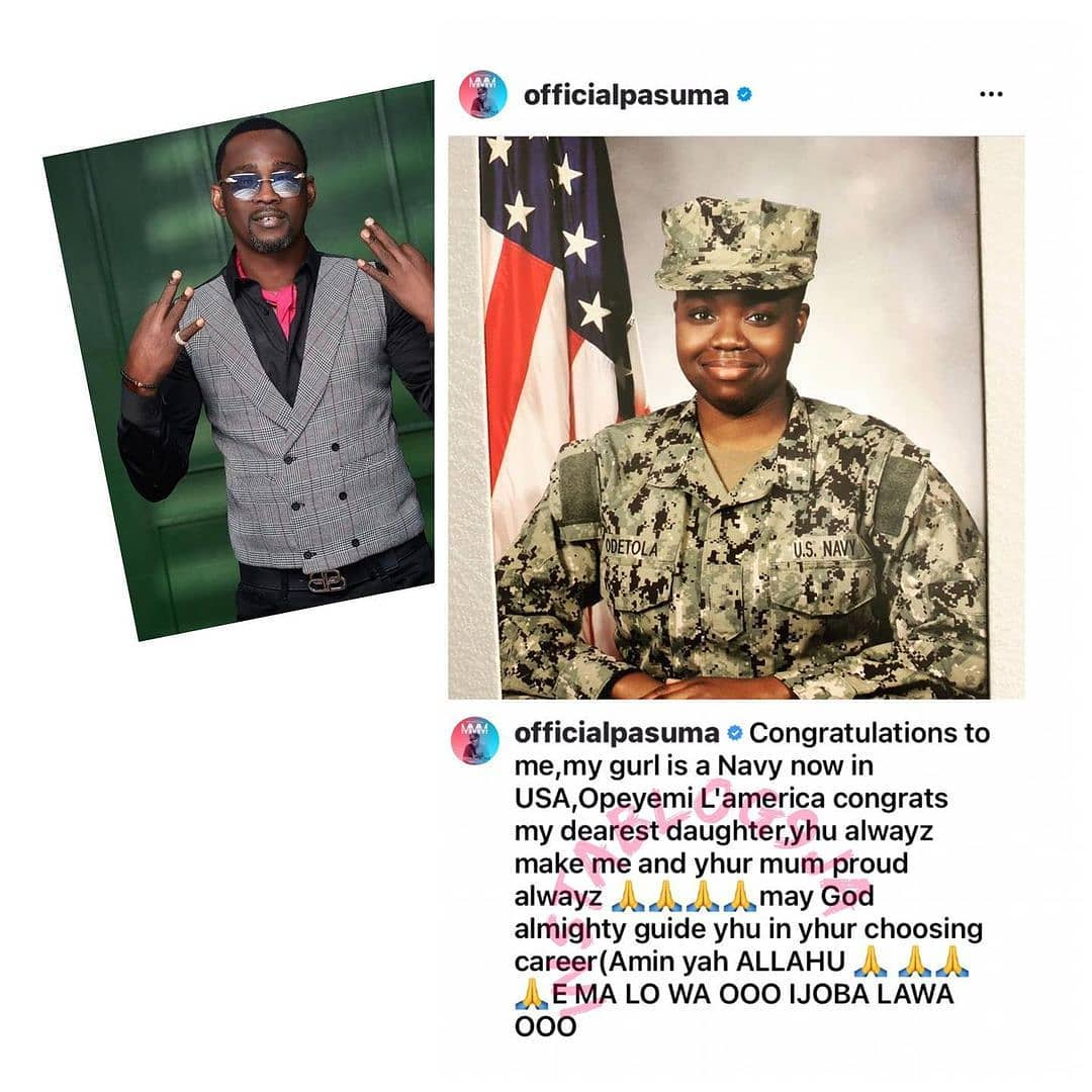 Fuji Maestro, Pasuma, celebrates his daughter who joined the US Navy
