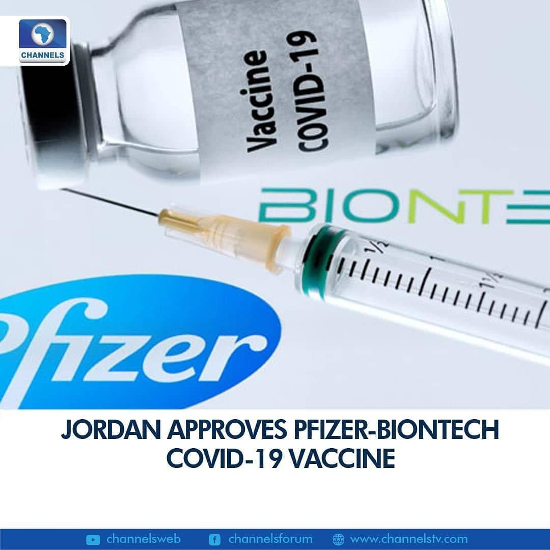 """Jordan announced late Monday that it had approved emergency use of the Pfizer-BioNTech coronavirus vaccine, as the United States kicked off a mass vaccination drive.  The Jordanian Food and Drug Administration (JFDA) did not specify when it would begin the rollout of the vaccine by US pharmaceutical giant Pfizer and its German partner BioNTech.  Health Minister Nazir Obeidat said last month that the vaccine would be distributed free of charge to foreign residents as well as Jordanians.  JFDA director-general Nizar Mheidat told the official Petra news agency it had """"concluded all stages of granting the licence, in order to approve and distribute the vaccine"""".  He added that a study was also underway to allow the use of two other vaccines."""