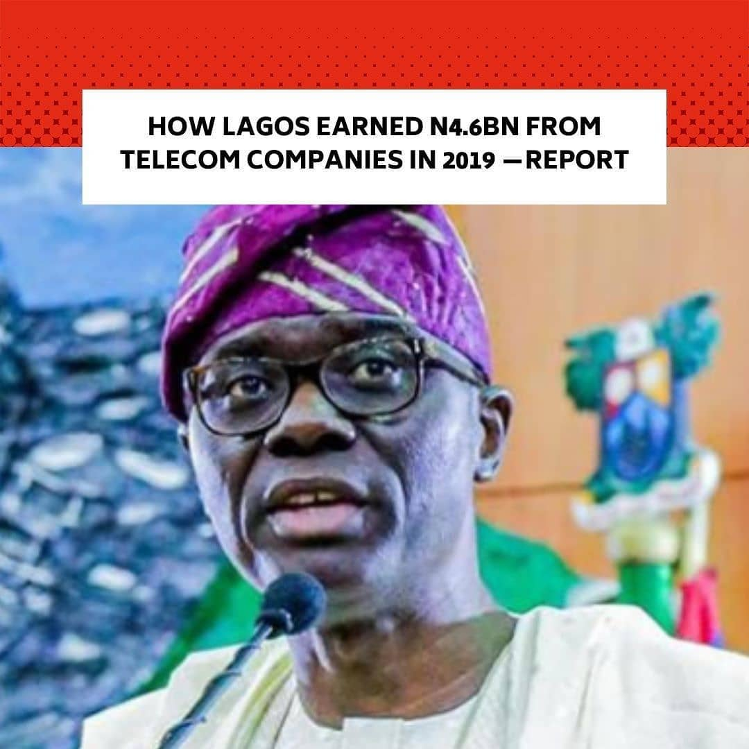 """Lagos State earned a total of N4.6bn from different kinds of charges from telecoms operators in 2019, a research conducted by the Nigerian Communications Commission has shown. . The study examined the quantum of taxes, levies, and fees collected by state governments and their impact on the digital economy agenda of the Federal Government. . The report stated that the Lagos State Government collected the highest amount of taxes, fees, and levies from telecoms operators in Nigeria. . The telecoms companies that submitted the amount paid as taxes, levies, permits, and fees to Lagos State Government included Airtel, MTN, 9mobile, IHS Nigeria, VDT Communications Limited, and ATC Nigeria. . Analyses of the report showed that MTN paid N4.52bn to the state government; Airtel paid N75.72m; and 9mobile paid N11.6m. . Also, IHS Nigeria, a telecom infrastructure service provider company, paid N66.12m to the Lagos State Government in 2019. . VDT, an Internet service provider, paid N2.84m while ATC Nigeria, a telecoms infrastructure company, paid N2.08m. . Findings showed that Lagos State accounted for 32.36 per cent of the total taxes, levies, and fees collected by all states in the country. . Next to Lagos State, the study revealed that Gombe State collected 10.29 per cent of the total taxes, levies, and fees of all the states, followed by Delta State with 8.91 per cent. . The study found that taxes charged by state governments on telecommunications operators in Nigeria have a negative impact on their expansion and coverage of unserved areas.  It said, """"This was shown in the positive relation that existed between state-level taxes and high unserved areas within the state. . """"Nevertheless, other bills and charges such as fees, permits, and others have a positive impact and result in lower unserved areas within the state. Levies as studied do not have a statistically significant impact on unserved areas."""" . Analysts at the NCC recommended a review of the government policy on taxa"""