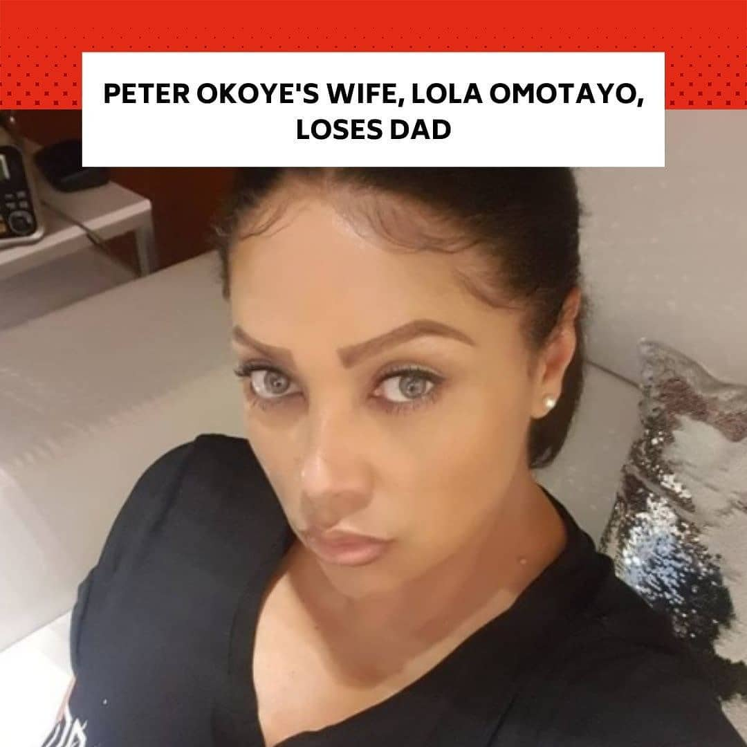 """Lola Omotayo-Okoye, the wife popular Nigerian singer, Peter Okoye, has lost her father.  . The heartbroken lady took to her Instagram account to announce the death of her father. . Although his cause of death is unknown, she revealed that her father died earlier on Wednesday (today).  . She wrote, """"In the early hours of this morning, I received some very sad news that brought my family's world to a grinding halt. . """"My darling Papa's passing has hit us all very hard, and while we know that he is in a better place, the truth is that, there is no easy way to handle the grief that comes with the loss of a loved one."""" . Despite the sadness she feels, Lola Omotayo-Okoye stated that she will be comforted by the fond memories she has of her father. . """"However, what we can do, is be comforted in the memories he has blessed us with, keeping our hearts set on the wonderful person that Papa was; the wonderful, kind and generous person he will always be to us and to the many lives he touched with his time here on earth. My family and I would like to thank everyone for the outpouring of love that you have shown us in this difficult time. . """"Your support and kindness have warmed my heart to the core, and I cannot express with words how much it means to my family and myself. Thank you. We love you Papa. It hurts badly. And while we will miss you desperately, we know we have been truly blessed to have had a husband, father, brother, uncle and grandfather like you. Till we meet again to part no more. I LOVE YOU SO MUCH 16122020,"""" she wrote. -- Follow us for breaking news and videos. -- Lola Omotayo-Okoye, the wife of popular Nigerian singer, Peter Okoye, has lost her father. ords how much it means to my family and myself. Thank you. We love you, Papa. It hurts badly. And while we will miss you desperately, we know we have been truly blessed to have had a husband, father, brother, uncle, and grandfather like you. Till we meet again to part no more. I LOVE YOU SO MUCH 16122020,"""" she w"""