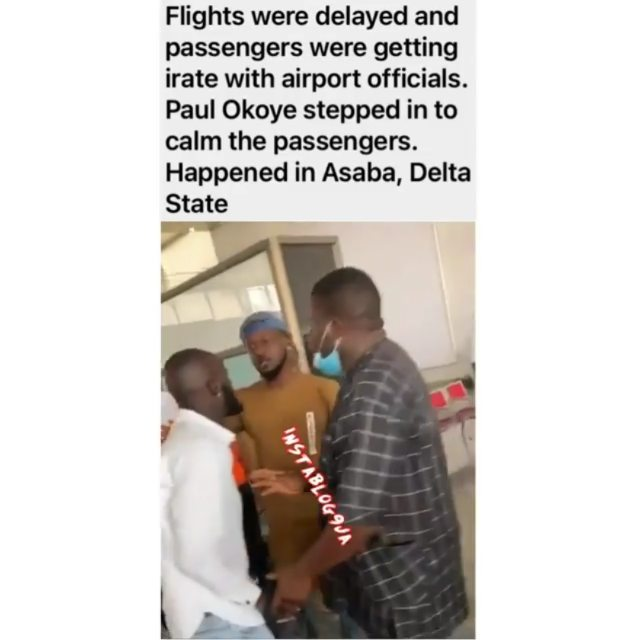 PaulPsquare assuages irate passengers whose flight was delayed in Asaba, Delta State