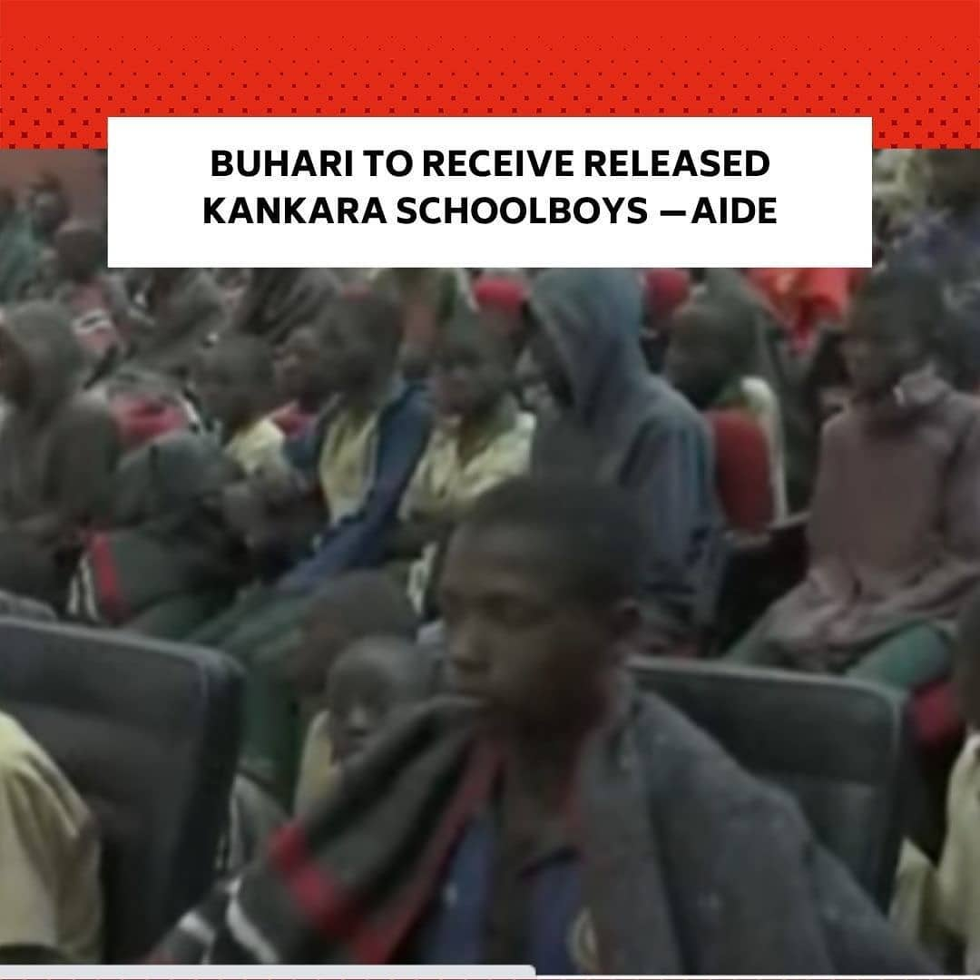 """Personal Assistant to the President on New Media, Bashir Ahmad, says his principal, Major General Muhammadu Buhari (retd.), will, on Friday afternoon, receive the released schoolboys of Government Science Secondary School, Kankara, Katsina State. . """"President @MBuhari will receive the rescued students of the Government Science Secondary School, Kankara later this afternoon in Katsina,"""" Ahmad tweeted on Friday. . Earlier, Governor Aminu Masari had received the 344 abducted schoolboys at the Katsina State Government House after they were transported from Zamfara State where they were taken by their captors. . Gunmen had invaded the school premises last Friday and abducted over 300 students after a gun duel with the police. . The abduction took place some hours after the President arrived in Daura, Katsina for a week-long private visit. . Buhari had come under fire for not visiting the school or meeting with the parents of the students over the attack. . The Kankara students' abduction is not the first in the history of the nation. Non-state actors had in the past abducted hundreds of secondary school girls from Chibok, in Borno State; and Dapchi in Yobe State. Some of them eventually regained freedom while a number of them were detained in the enclaves of their abductors and sexual abusers. --"""