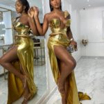 """Star of the day Idia Aisien shows us how to rock the """"Vengeance Vainglory and Lascivious Enticement"""" dress code for"""