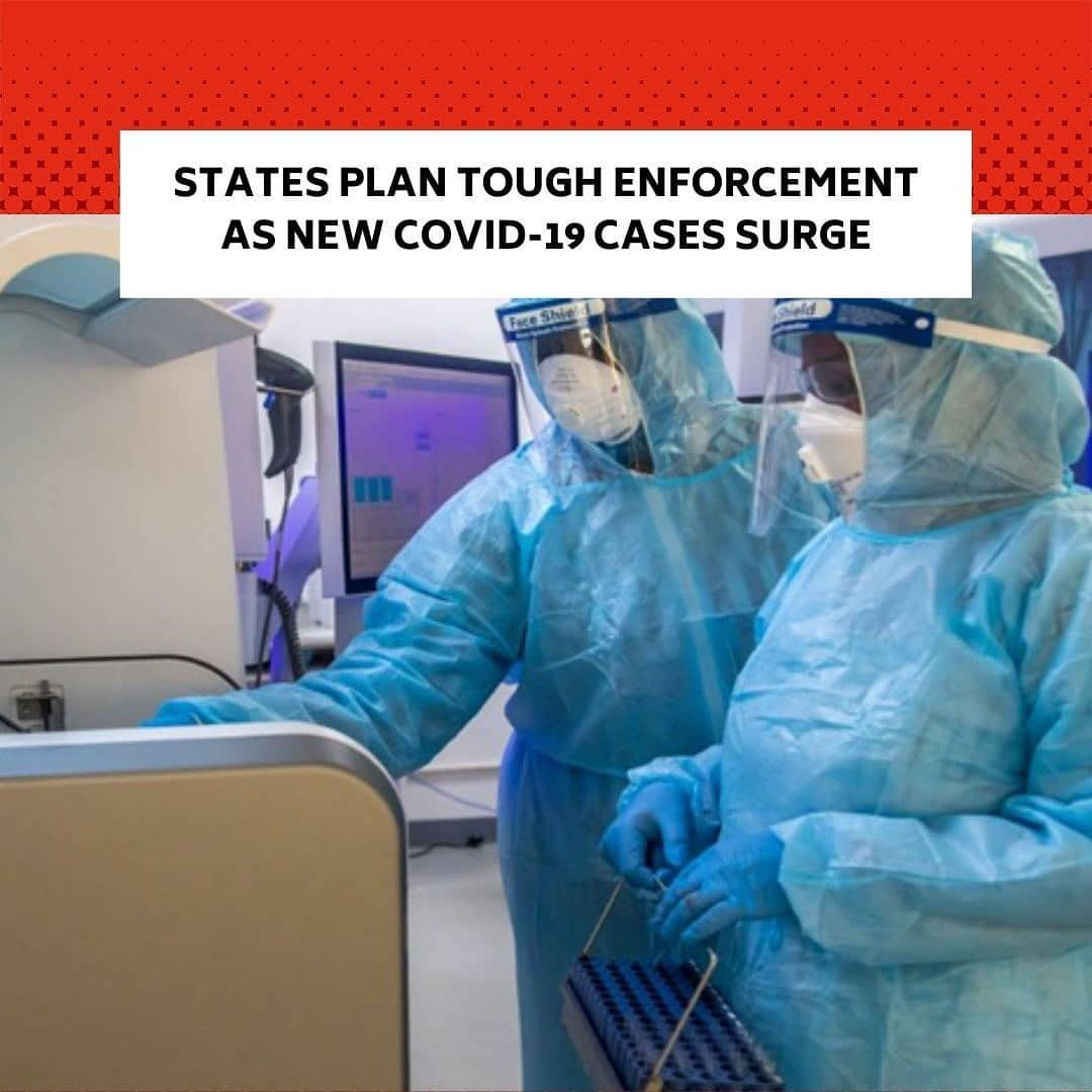 """State governments on Sunday renewed COVID-19 protocol enforcement as the country battled increasing cases of coronavirus. . Officials of states including Lagos, Anambra, Ogun and  Kaduna on Sunday told The PUNCH that as from Monday (today), they would step up enforcement of COVID-19 preventive measures such as wearing of face masks, social distancing in vehicles and hand washing. . Recall that following the persistent increase in COVID-19 cases in the country in April, the Federal Government introduced phase one lockdown in Lagos and Ogun states as well as the Federal Capital Territory from April 27 to May 4. . The country also went through phase two from May 5 to June 29 and phase three from June 30 to July 27. . During the period, the Presidential Task Force on COVID-19 and state governments banned gatherings in worship places and stopped inter-state travels. . Since July, many Nigerians have abandoned non-pharmaceutical interventions, such as wearing of face masks and social distancing. . These have triggered the second wave of the virus, which the PTF announced on Thursday. . According to the Nigeria Centre for Disease Control, no fewer than 77,933 cases had been recorded in the country as of Saturday. Also, 1,218 deaths had been recorded during the period.  The PUNCH had on Friday reported that  5,809 cases were recorded in the country between December 7 and 16, 2020. . Following the task force's announcement, state governments have taken steps to stop a further spike in COVID-19. . Lagos begins  enforcement today, says it can't afford another lockdown . The Lagos State Commissioner for Information, Mr Gbenga Omotoso,  in an interview with The PUNCH, on Sunday said the state safety commission as from Monday (today) would enforce the strict compliance with the COVID-19 guidelines. . He stated, """"We are stepping up advocacy on radio and television stations so that people can know that the second wave we are talking about is upon us. We are not planning to shut dow"""