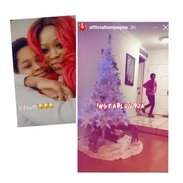 The adorable moment singer 9ice's ex-wife, Toni Payne, surprised their son, Zion, with a PS5 on his 12th birthday