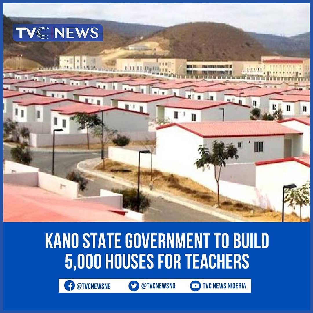 "The Kano State Government has announced that about 5,000 housing unit will be constructed for teachers in public primary and secondary schools in the state.  The scheme tagged Teachers Reserved Areas (TRA) will be implemented jointly by the state government, family homes funds and the federal mortgage bank.  The state governor who disclosed this during a stakeholders' meeting said the project was to provide decent accommodation for teachers and their families.  He explained that each of the 36 rural local governments will have 100 housing units while the remaining 8 metropolitan local governments will have 150 housing units each.  ""The government would provide the land, auxiliary facilities such as water, electricity and roads while other aspects would be handled by the partners"" governor Ganduje stated."