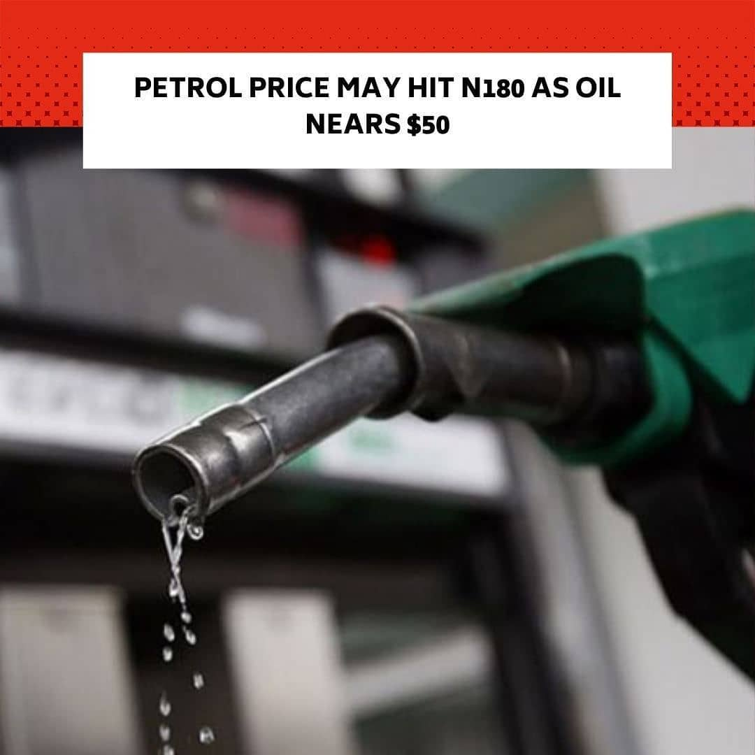 "The pump price of Premium Motor Spirit, popularly known as petrol, may hit N180 per litre this month, according to marketers, as oil prices extended their rally on Monday, with Brent crude trading near $50 per barrel. . Brent, the international oil benchmark, has risen by more than 15 per cent since November 13 when the pump price of petrol was adjusted in the country. It stood at $49.39 per barrel as of 7:29pm Nigerian time on Monday. . The Minister of State for Petroleum Resources, Timipre Sylva, had said in September that the Federal Government had stepped back in fixing the price of petrol, adding that market forces and crude oil price would determine the cost of the product. . The National Operation Controller, Independent Petroleum Marketers Association of Nigeria, Mr Mike Osatuyi, said fuel prices might increase before the end of December, considering the current realities in the market. . ""Once we have deregulated, petrol price is a function of crude oil price. If in the past few months, oil price has hovered around $40 to $44 per barrel, when it moves to $49-$50, we have to be expecting nothing less than N180 per litre of petrol,"" he said. . Osatuyi, in a telephone interview with our correspondent on Monday, said petrol price could reach N200 per litre if oil price crossed the $50 per barrel mark. . ""The devaluation of naira by N6 will actually have effect on the pump prices of fuel maybe by the end of this month or early next year,"" he added. . He faulted the current situation in which the Nigerian National Petroleum Corporation remained the sole importer of petrol into the country despite the deregulation of petrol price. . ""As at today, NNPC is still practicing monopolistic deregulation because it is the only one importing petrol for Nigeria. If you deregulate, you are supposed to make forex available for other players,"" he said. . The Chairman, Major Oil Marketers Association of Nigeria, Mr Adetunji Oyebanji, also told our correspondent that private marketers were still unable to import petrol because of lack of access to forex."