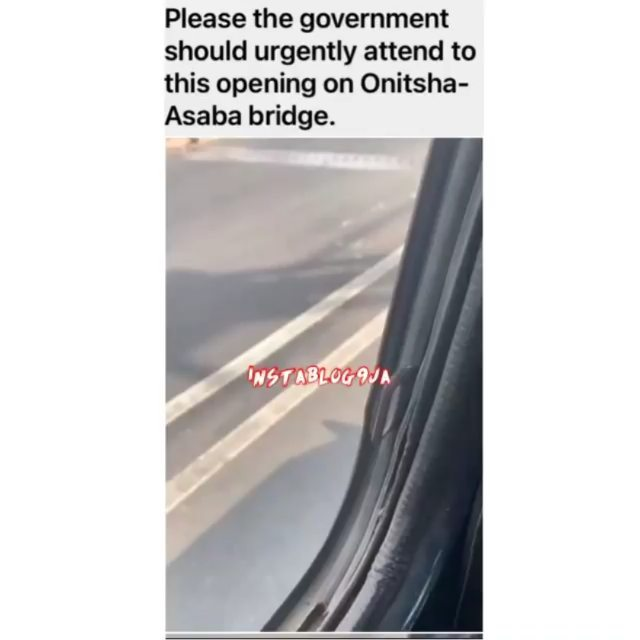 Travelers raise concern over an alleged opening on the Onitsha-Asaba bridge