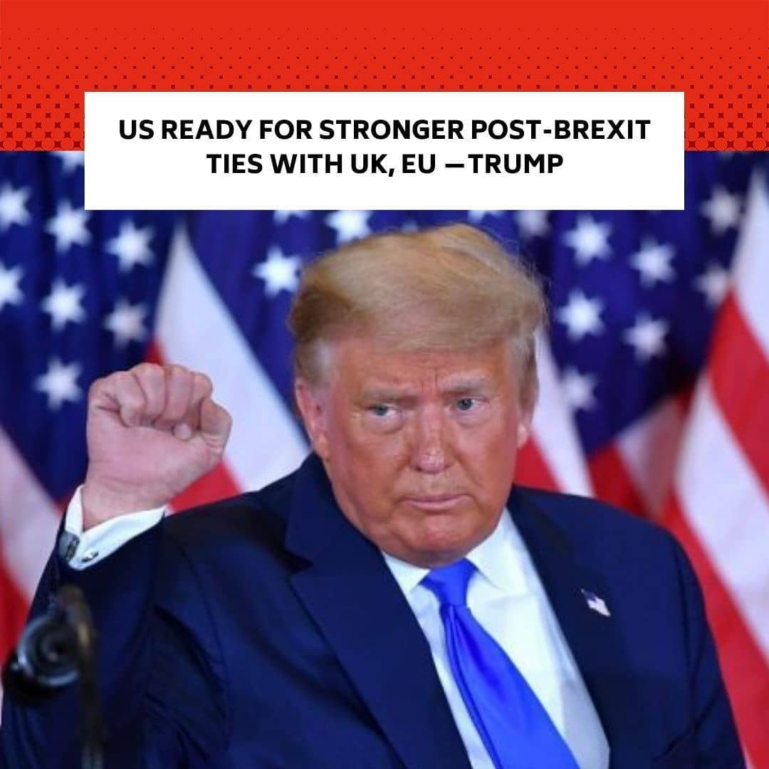 "US President Donald Trump's outgoing administration congratulated Britain and the EU on their post-Brexit trade deal, saying Washington was ready to build ""stronger transatlantic ties."" . ""Congrats to the UK and the EU for concluding a historic Brexit deal,"" read a message from the national security officials at White House posted on Twitter. . ""The US stands ready to work with all to build even stronger transatlantic relations in the years ahead."" . Britain and the European Union secured the deal on Thursday after months of tortuous negotiations. . British Brexit supporters have long promised a new and favorable trade deal with the United States to compensate their exit from the EU. . And Trump, who supported Brexit and has good ties with British Prime Minister Boris Johnson, seemed like their natural ally. . But the British will have to deal with Democrat Joe Biden, who becomes US president on January 20 and is set on strengthening multilateral cooperation, especially with the European Union. --"