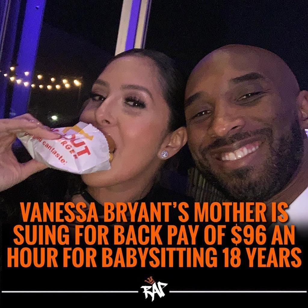 """Vanessa Bryant, who lost her husband Kobe and daughter Gianna in a helicopter crash back in January, is being sued by her mother for over $5 million over allegations that she was not paid for being a """"nanny"""" ️  According to People Magazine, she claims that her late-son-in-law Kobe promised to """"take care of her for the rest of her life"""" and that her daughter is now changing those promises after his death. She wants over $5 million and backpay of $96 an hour for 18 years.  Vanessa made a counter claim saying that her mother was never her personal assistant or her children's nanny, """"She was a grandmother who was supported by me and her son-in-law at my request""""."""