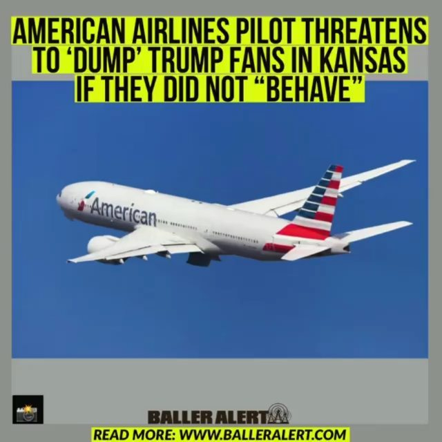 """American Airlines Pilot Threatens To 'Dump' Trump Fans In Kansas If They Did Not """"Behave""""  @dawnnparis   supporters have really shown out over the past few days, and the pilot on an flight has had enough. On a Friday flight out of Washington, DC, the pilot threatened to land early and dismiss passengers if they did not """"behave.""""  Prior to departure, passengers on AA flight 1242 — """"many of them wearing MAGA hats,"""" according to the New York Post, """"were shouting 'USA 'over and over again.""""  In a video posted to Twitter, the pilot can be heard saying, 'This is the way it's gonna be… it's a four and a half hour flight to Phoenix. I'll put this plane down in the middle of Kansas and dump people off, I don't care.""""  Mindy Robinson, one of the passengers in the cabin, seemed taken aback by the pilot's comments. """"Wow,"""" her Twitter post began. """"I'm on a plane full of patriots…we started chanting 'USA"""" … and the Captain came on and said he'd drop us off in Kansas…if we didn't obey their every single rule. American Airlines."""