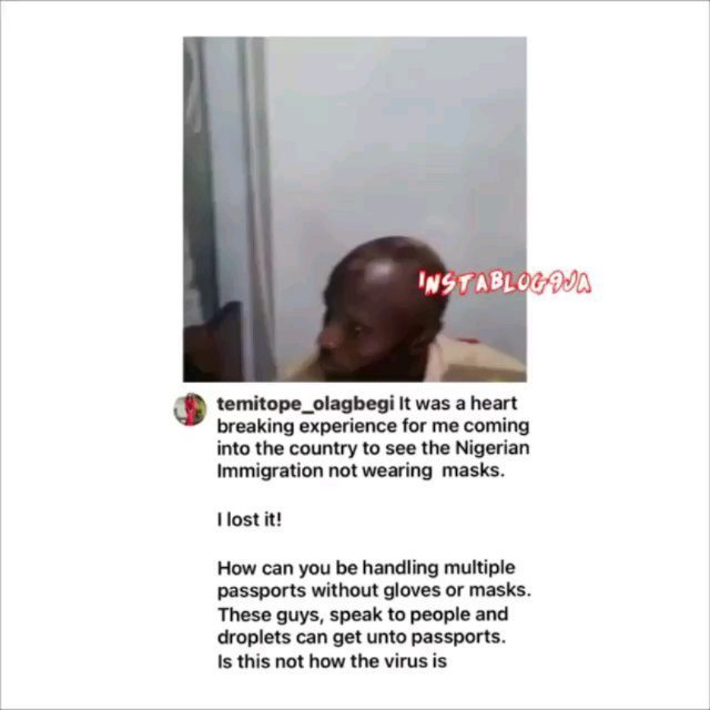 COVID-19: Lady shares her shocking encounter with Immigration officers at the Airport [Swipe]