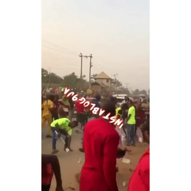 Masquerades join mere mortals to scramble for money in Anambra