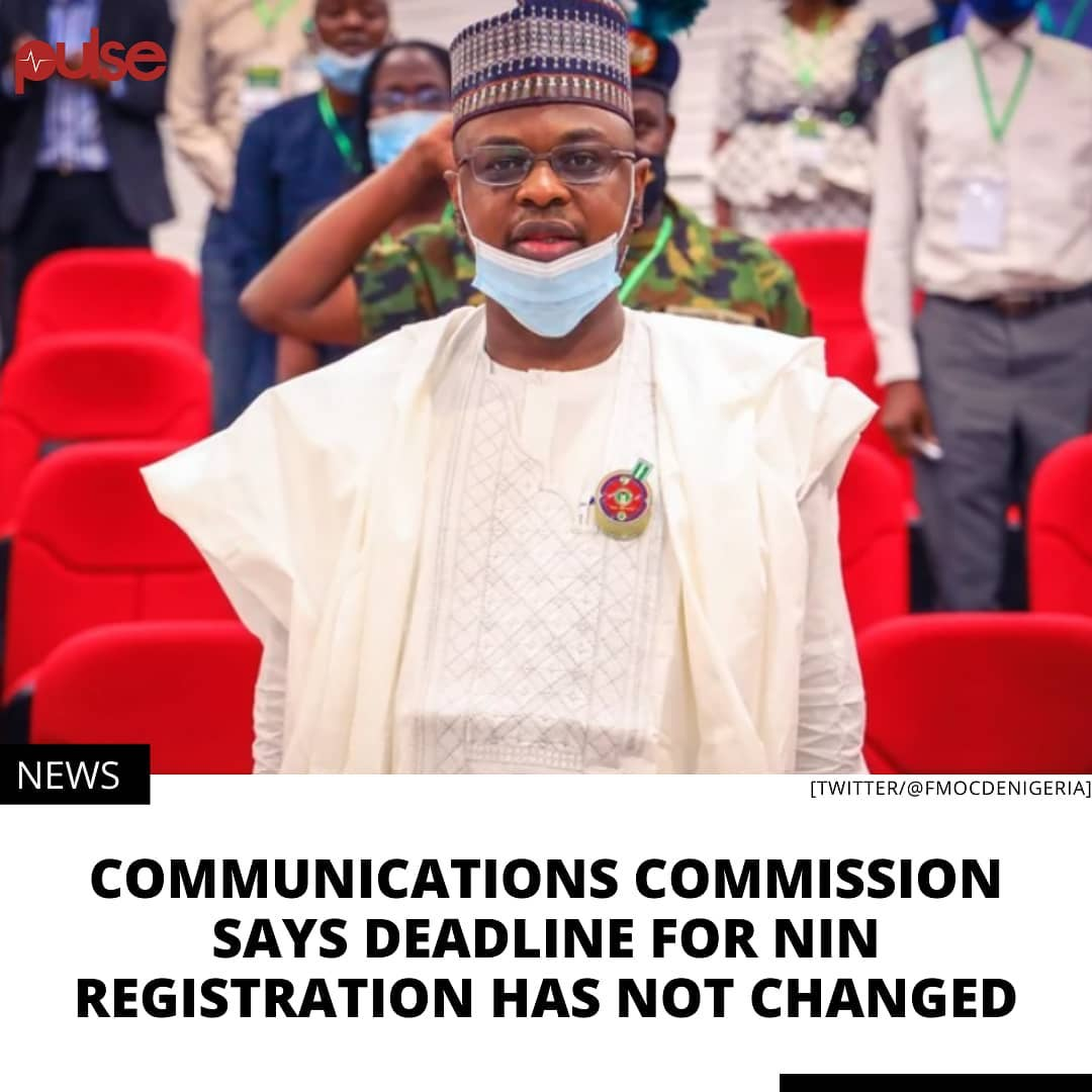 NCC has stated that the federal government is yet to advise on an extension of deadline. . The Nigerian Communications Commission (NCC) says its January 19 and February 9, 2021 deadlines for all mobile phone subscribers to integrate their SIMs with their National Identification Numbers (NIN) or have their phone lines blocked, is still in force. . The NIN enrolment process has been shoddy, chaotic and shrouded in controversy, with National Identity Management Commission (NIMC) staff embarking on a strike action at some point to protest poor working conditions. .