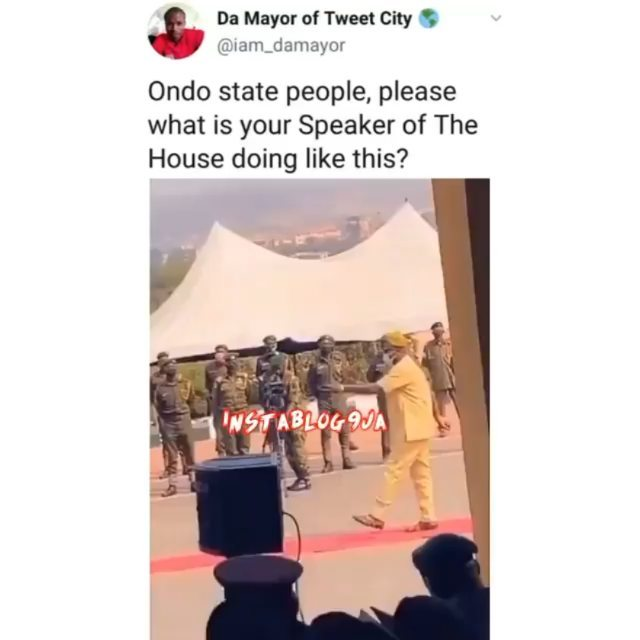 Ondo State House of Assembly Speak causes a stir at the Armed Forces Remembrance Day celebration