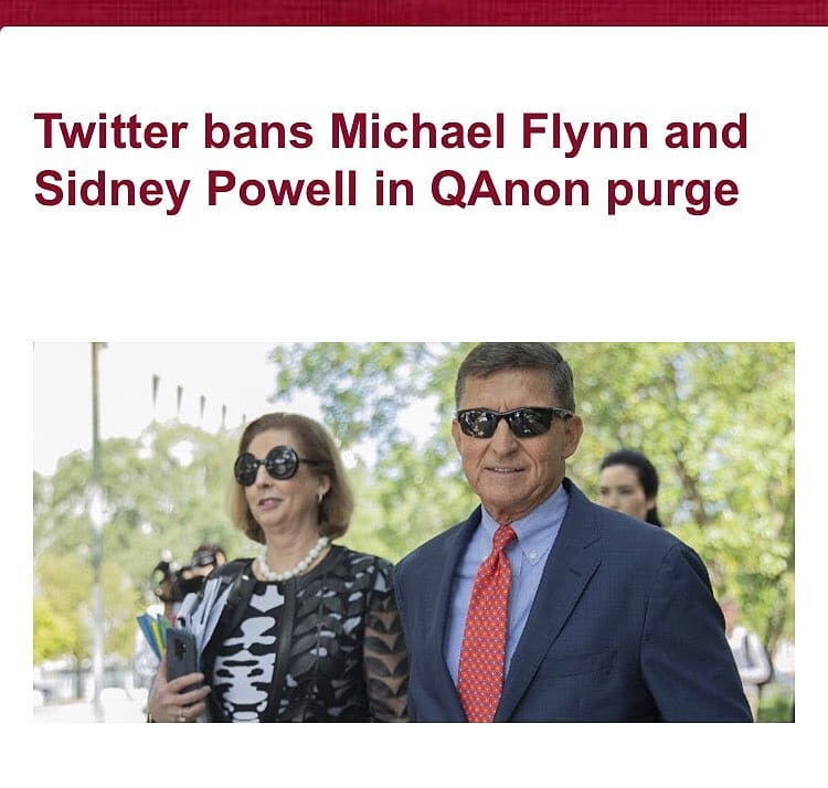 """President Donald Trump's former national security adviser Michael Flynn and pro-Trump attorney, Sidney Powell have been banned on Twitter as part of a purge of QAnon accounts following the insurrection at U.S. Capitol by a mob of violent Trump supporters.     QAnon is a disproven and discredited far-right conspiracy theory alleging that a cabal of Satan-worshipping pedophiles is running a global child sex-trafficking ring and plotting against US president Donald Trump, who is fighting the cabal. The wide-ranging, completely unfounded theory also claims that President Trump is waging a secret war against elite Satan-worshipping paedophiles in government, business and the media and this fight will lead to a day of reckoning where prominent people such as former presidential candidate Hillary Clinton will be arrested and executed.     Social media companies have been under intensified pressure to crack down on hate speech after Wednesday's attack on the Capitol. Dozens of QAnon social media accounts were hyping up January 6 in the days leading up to a Washington, D.C., rally for Trump, expressing hope that President-elect Joe Biden's victory would be overturned.     The permanent bans are among the highest profile that the company has instituted as part of its efforts to crack down on misinformation and calls for violence. Flynn and Powell both met with Trump at the White House in recent weeks as part of efforts to overturn the presidential election results. They are also high-profile figures in the QAnon community, and Flynn even took an """"oath"""" to the conspiracy theory last year.     A statement released by Twitter on Friday January 8, read;      """"Given the renewed potential for violence surrounding this type of behavior in the coming days, we will permanently suspend accounts that are solely dedicated to sharing QAnon content.  """"The accounts have been suspended in line with our policy on Coordinated Harmful Activity.   """"We've been clear that we will take strong enfor"""