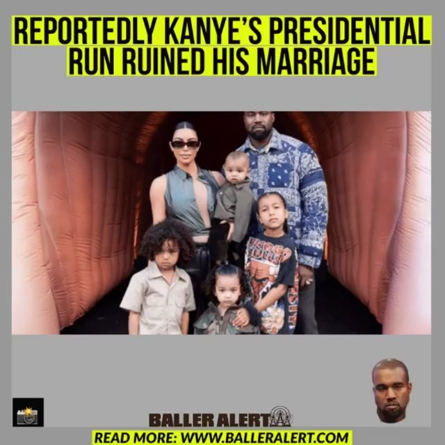 """Reportedly Kanye's Presidential Run Ruined His Marriage  #Bloggedby: @iamtayyonce_   According to #PageSix, Kanye's presidential trail made realize she""""needed to end the marriage for the sake of her kids and her own sanity."""" began his race for president in July of 2020. The rapper received a great deal of backlash due to his untraditional campaigning ethics. He also made headlines for calling his mother in law  """"Kris Jong-Un"""" on after the family allegedly attempted to force him into psychiatric treatment.   There have been several rumors online surrounding Kim dating However, ever a source quickly shut the rumors down.""""She's not dating anyone because, if she were, it would be a career move. She can't go to restaurants now on dates and have paparazzi [due to the pandemic]. She can't date quietly; she doesn't even understand what that would be like"""", They said.  A prenuptial agreement was established before the marriage. Kim recently hired Laura Wasser. The power divorce attorney will help negotiate a confidential divorce settlement between the two. The parents of four children will have to settle finances and child custody."""