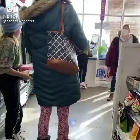 Woman goes ballistic in the store because kids are not wearing masks...