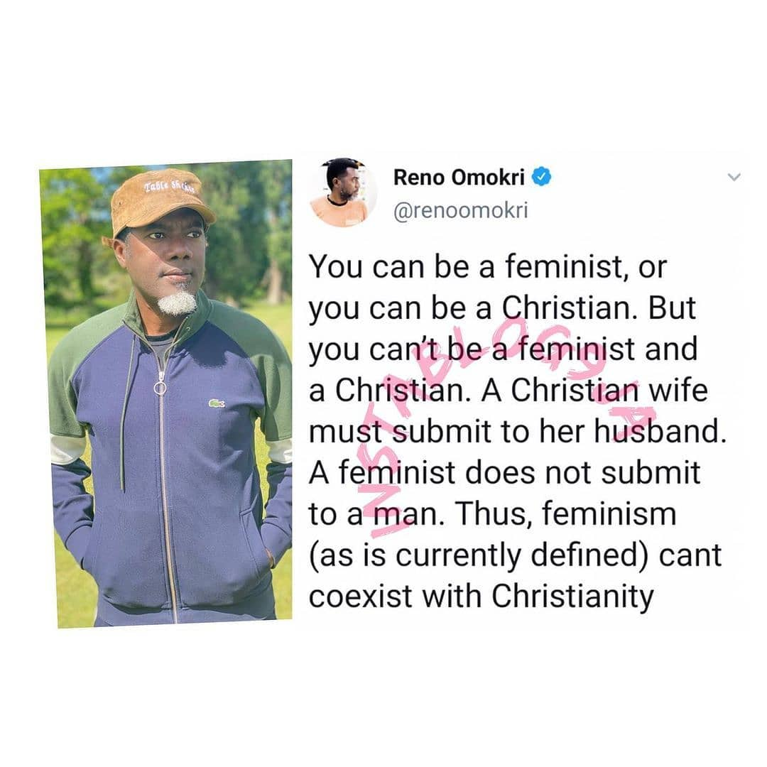 You can't be a feminist and a Christian — Reno Omokri