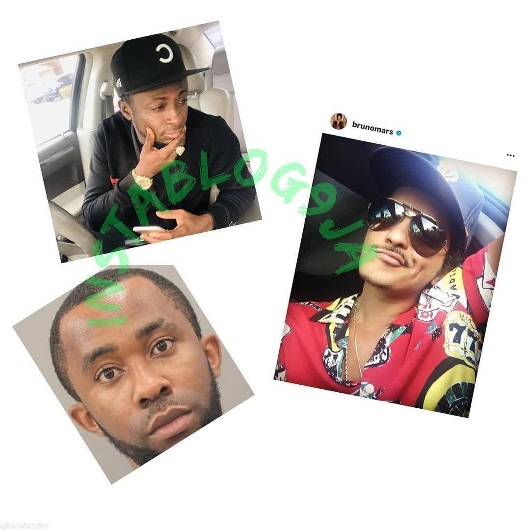 2 Nigerians arrested for posing as singer Bruno Mars to scam lady of $100K in the U.S . . Two Nigerians, identified as Chinwendu Azuonwu and Basil Amadi, 29, have been arrested for scamming a 63-year-old Texas woman of $100,000 by posing as singer Bruno Mars. . . The duo made the woman believe she was dating the pop star. According to reports, Azuonwu, 39, a resident of Houston, was charged with third-degree felony money laundering. . . The victim told police that in 2018 she created a profile on Instagram 'in search of companionship.' She then made contact online with someone claiming to be Mars.  . . During these interactions on Instagram and Google Hangouts, the woman told investigators that she 'fell in love' with the person she thought was Bruno Mars. In addition, 'Mars' told the woman that he planned to quit his tour so that he can be with her. . . The woman told police that she believed at the time that she was communicating with the 11-time Grammy Award winner after she received messages showing Mars performing while he was on tour. . . In September 2018, 'Bruno' asked the woman to send him a $10,000 check to help cover touring expenses. Two days later, the woman was once again contacted by 'Bruno' who asked for another $90,000, which she also sent.