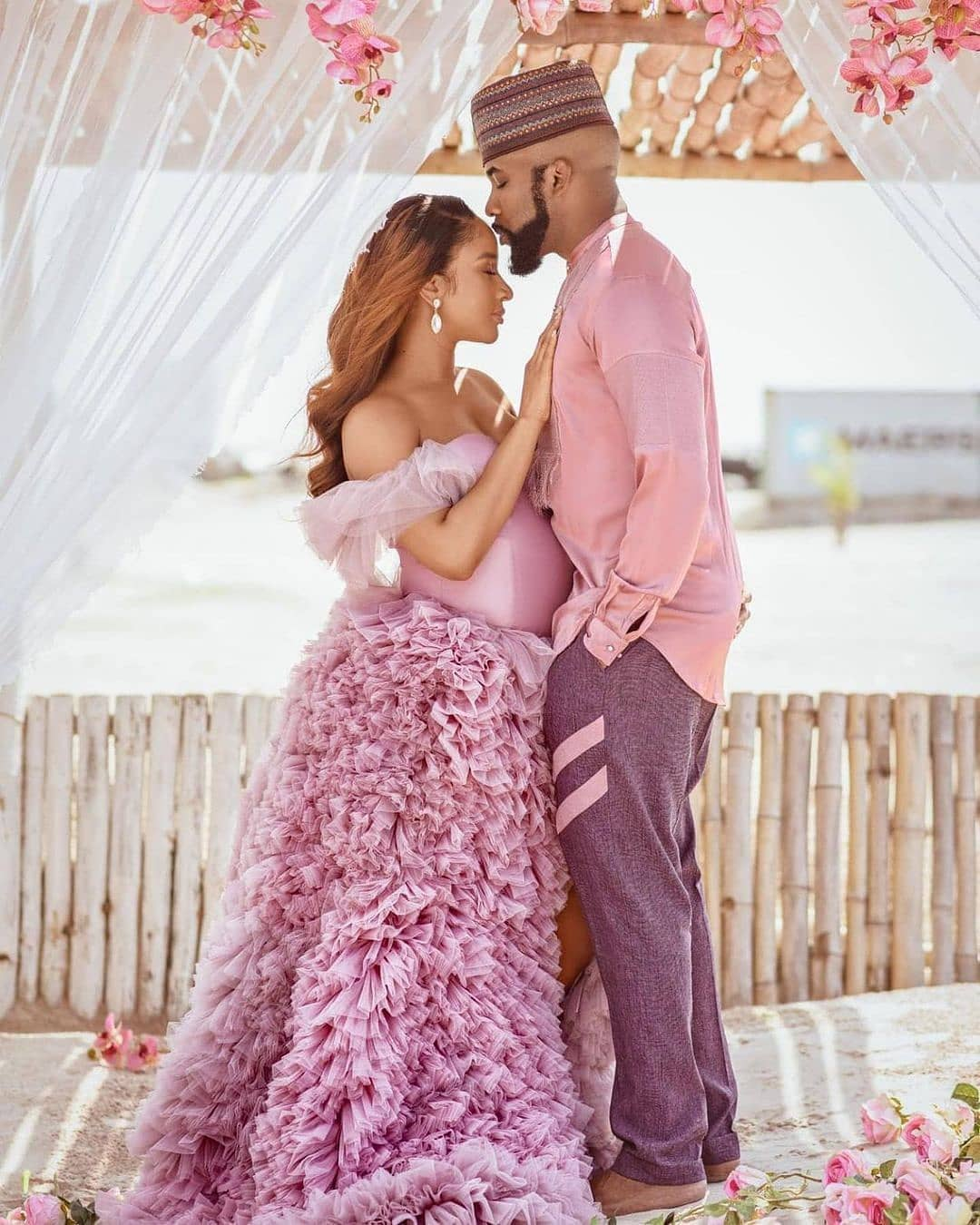 "Adesua Etomi and Banky wellington have welcomed a son ""Zaiah""!! He arrived four weeks ago! congratulations + these photos are stunning!  . ."
