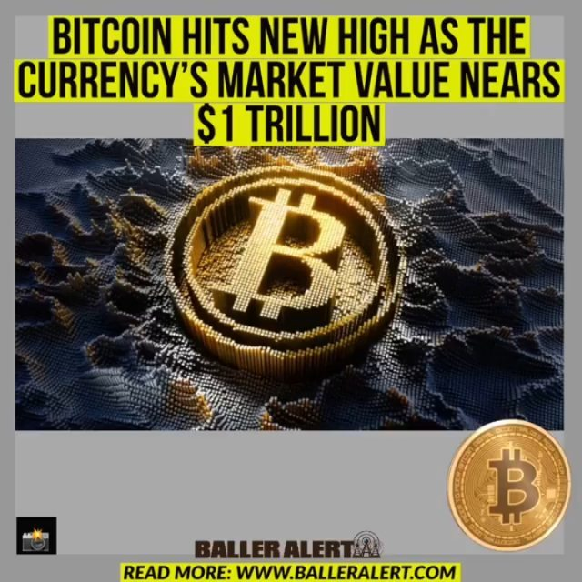"""Bitcoin Hits New High As The Currency's Market Value Nears $1 Trillion   On Thursday morning, the price held above $51,000 after hitting a record high on Wednesday of over $52,600.  As recently as March 2020, bitcoins meteoric rise under $4,000 means that the largest cryptocurrency is not far away from a market capitalization of $1 trillion.  On the exchange, the Bitcoin price (BTC) fell slightly to $51,527 over the 24 hours on Thursday. That brought gains to around 75% year-to-date.  Analysts say the massive quantities of cash poured into economies by governments and central banks during the coronavirus crisis has been a major factor. Bitcoin proponents also state that if the record amounts of stimulus push up inflation and erode the buying power of fiat currencies such as the dollar, the cryptocurrency will serve as a store of value.  announced earlier this month that Tesla purchased $1.5 billion of the token in January. have also warmed up to companies like #BlackRock, #BNYMellon, and #Mastercard.  """"There are a number of reasons why Bitcoin is soaring, but what stands out most is the trend that Microstrategy started and Tesla popularized: moving institutional balance sheets into Bitcoin to hedge against inflation,"""" said Nicholas Pelecanos, head of trading at blockchain company NEM.  """"This is just the start of a trend which could see billions of dollars flow into the crypto space over the course of 2021.""""  The increase of Bitcoin to about $52,000 has brought the total market cap of the cryptocurrency to over $950 billion."""