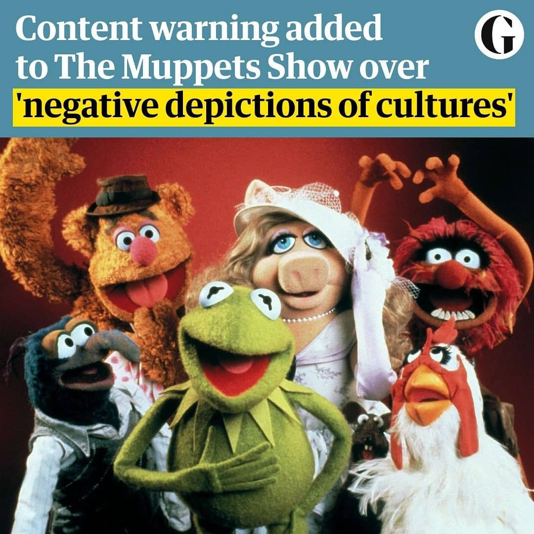 """Disney+ has added a new disclaimer to old episodes of The Muppet Show, warning of """"negative depictions and/or mistreatment of people or cultures"""" throughout the series.  Jim Henson's family variety show ran from 1976 and 1981 and was guest hosted by some of the biggest stars of the time.  Disney+ began streaming the programme this Friday with a warning that reads: """"These stereotypes were wrong then and are wrong now. Rather than remove this content, we want to acknowledge its harmful impact, learn from it and spark conversation to create a more inclusive future together.""""  The platform has not gone into detail on why a warning has been added to 18 of the episodes but, in one, from season five in 1980, Johnny Cash performs while standing in front of a Confederate flag, which has a longstanding association with white supremacy. In another, from season three, Spike Milligan appears in a multitude of caricatured national costumes as part of a performance of It's a Small World After All.  Disney+ has applied the same disclaimer to other 20th-century content it has been streaming to contemporary audiences, like Lady and the Tramp, The Jungle Book, The Aristocats, Dumbo and Peter Pan, as part of its """"Stories Matter"""" initiative, which was launched to improve representation in its output."""