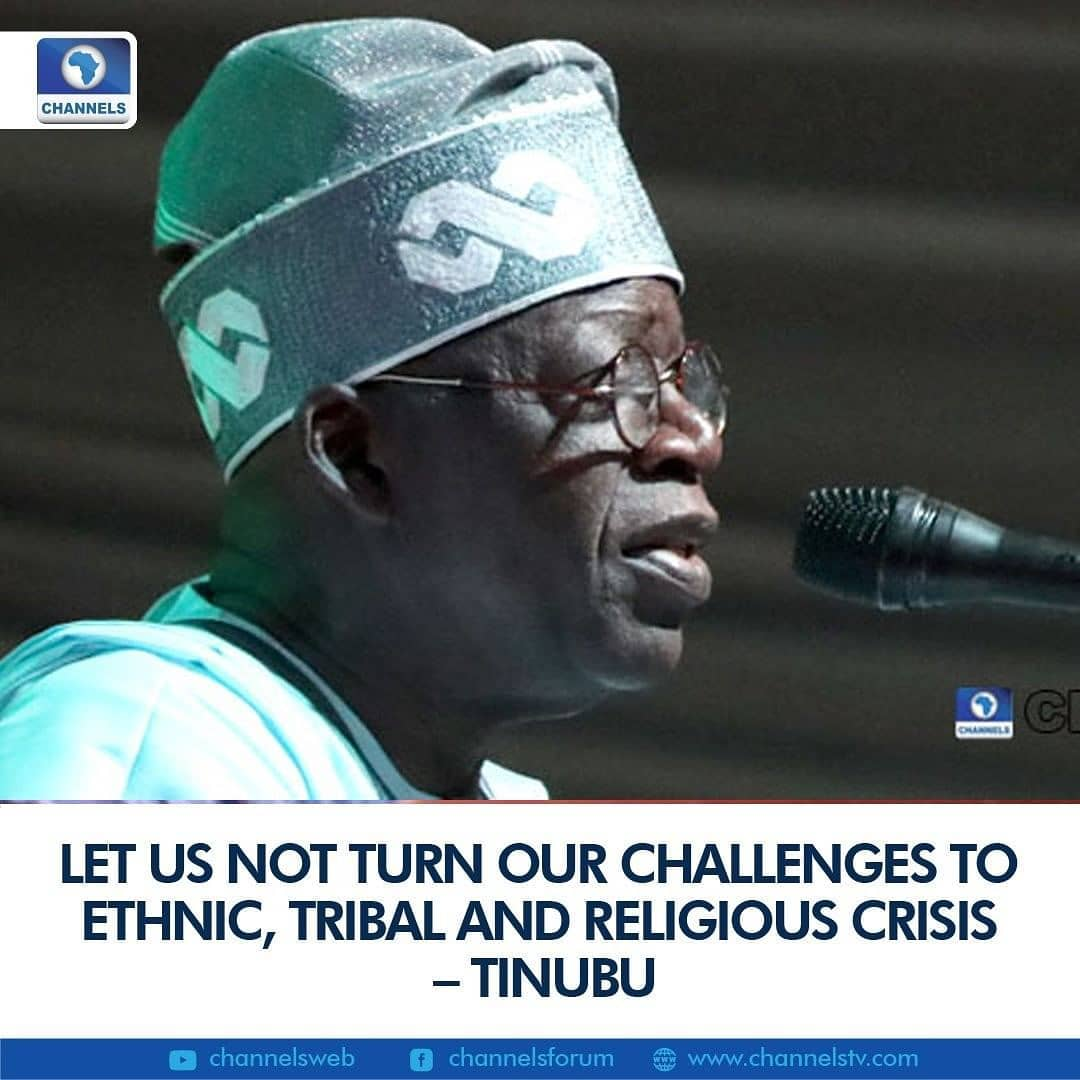 """Former Lagos governor, Bola Tinubu, has asked Nigerians not to turn the present security challenges across the country into ethnic, tribal, or religious crises.  Speaking during the eight-day Fidau prayers for the late civilian governor of the state, Alhaji Lateef Kayode Jakande in Lagos, Tinubu said anyone who had experienced ethnic confrontation or religious war before would not pray for one in Nigeria.  """"I appeal today to all of us not to turn whatever challenges we are facing right now to ethnic, tribal and religious crisis,"""" he said.  """"Nigeria is currently facing crises, crisis of insurgency, of banditry and all aspects of insecurity. But God Almighty who made this country one of the largest and most resourceful countries will guide and protect us."""