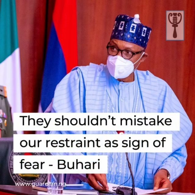 "In his reaction, President Muhammadu Buhari described the abduction of school girls from Government Girls Secondary School, Jangebe, in Talata-Mafara local government area of Zamfara, on Friday as inhumane and totally unacceptable, saying:⁣ ⁣ ""This administration will not succumb to blackmail by bandits who target innocent school students in the expectations of huge ransom payments.⁣ ⁣ ""No criminal group can be too strong to be defeated by the government. The only thing standing between our security forces and the bandits are the rules of engagement.⁣ ⁣ ""We have the capacity to deploy massive force against the bandits in the villages where they operate, but our limitation is the fear of heavy casualties of innocent villagers and hostages who might be used as human shields by the bandits.⁣ ⁣ ""Our primary objective is to get the hostages safe, alive and unharmed.""⁣ ⁣ The President noted that ""a hostage crisis is a complex situation that requires maximum patience in order to protect the victims from physical harm or even brutal death at the hands of their captors,"" warning: ""Let them not entertain any illusions that they are more powerful than the government.⁣ ⁣ ""They shouldn't mistake our restraint for the humanitarian goals of protecting innocent lives as a weakness or a sign of fear or irresolution.""⁣ ⁣ He appealed to state governments ""to review their policy of rewarding bandits with money and vehicles, warning that the policy might boomerang disastrously.""⁣ ⁣ He also advised states and local governments to be more proactive by improving security around schools and their surroundings.⁣ ⁣"