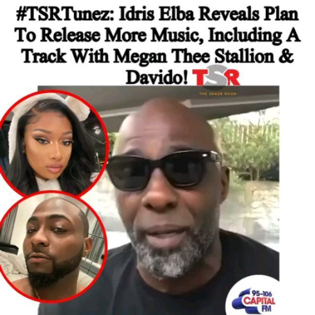 Looks like Idris Elba has been in the studio working on some new hits, including one with MeganTheeStallion and Davido!  Y'all ready to hear some more from Idris? SWIPE to hear one of the biggest hits he hit y'all with last year!