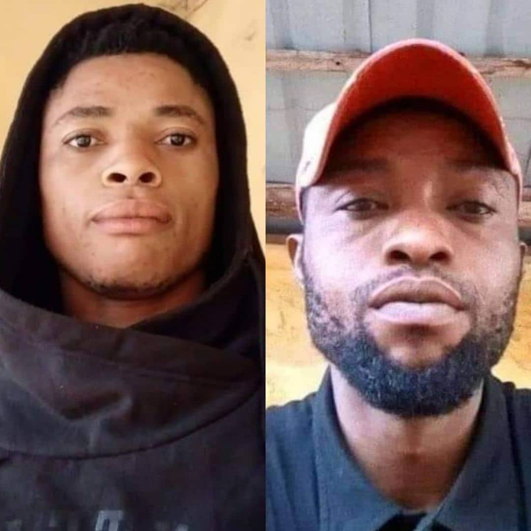 Man allegedly stabs his younger brother to death in Edo  A man identified as Kadir(pictured right) is on the run after he allegedly stabbed his younger brother, Suleiman (pictured left) to death in Auchi, Etsako West Local Government Area of Edo State.     It was gathered that trouble started on Friday morning, February 19, when Suleiman scolded Kadir's wife for being rude to their mother.   Kadir, who was not home when the altercation happened, confronted his younger brother for daring to rebuke his wife when he returned. Their mother was said to have intervened and settled the quarrel between the two siblings.     However, not satisfied, Kadir was said to have revisited the issue later in the day and once again, their mother stepped in and calmed the situation.   Suleiman was said to have put the matter behind him and went about his normal business. Kadir later traced him to where he went to late in the evening, allegedly stabbed him and fled.    Suleiman was rushed to the hospital on Friday night where he died on Saturday morning from the injury he sustained during the attack.   Spokesperson of the Edo State Police Command, Princewill Osaigbovo, who confirmed the incident said that the victim died at the St. Jude Hospital, where he was rushed to for medical attention.