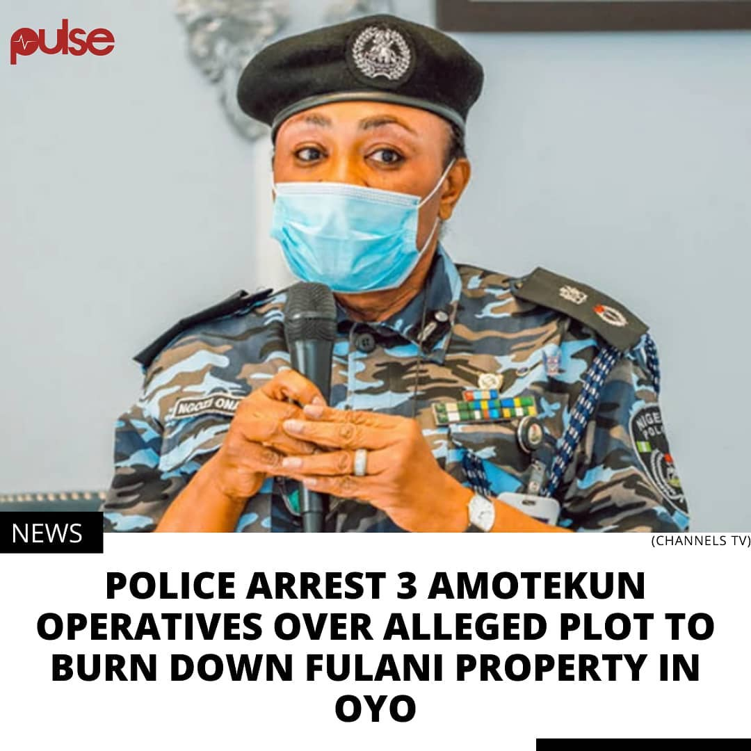Police said Amotekun operatives numbering about 30 invaded their station and conducted themselves in a riotous manner. . Police authorities in Oyo State have confirmed the arrest of three operatives of the Oyo State Security Network better known as Amotekun Corps. . According to Punch, the Divisional Police Officer (DPO) at Igbon Police Station in the Surulere Local Government Area of the state, Ayodeji Adepoju allegedly shot a member of Amotekun corps for arresting herdsmen. .