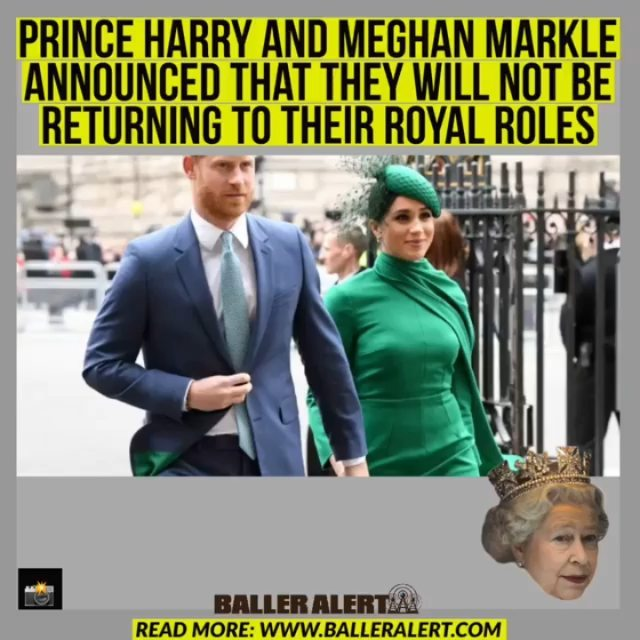"""Prince Harry and Meghan Markle Announced That They Will Not Be Returning To Their Royal Roles  Blogged by: @cabbagepatchgrl  On Friday, announced that and would not be returning to their royal roles.  The couple left their royal roles in March last year; they will no longer maintain their patronage as anticipated.  In a statement, Buckingham Palace said, """"The Duke and Duchess of Sussex have confirmed to Her Majesty The Queen that they will not be returning as working members of The Royal Family."""" The statement continued, """"Following conversations with The Duke, The Queen has written confirming that in stepping away from the work of The Royal Family it is not possible to continue with the responsibilities and duties that come with a life of public service.""""  Prince Harry will lose his honorary military appointments, which will then be redistributed """"among working members of The Royal Family.""""  The Queen's Commonwealth Trust, the Rugby Football Union, the Rugby Football League, the Royal National Theatre, and the Association of Commonwealth Universities are other trusts and sponsorships that will return to the Queen, 94.  Though Prince Harry and Meghan no longer use their prized titles of His/Her Highness, along with their titles of Duke and Duchess of Sussex, they will retain them."""