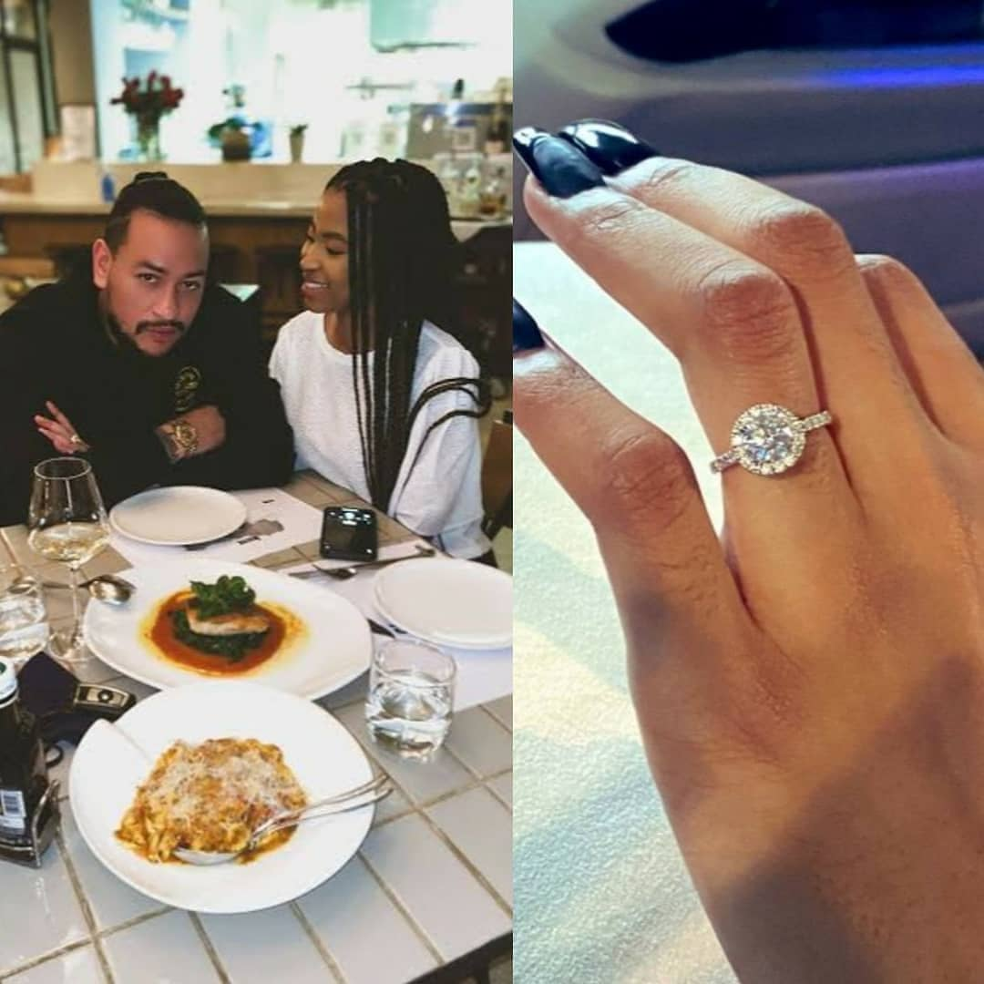 """SA Rapper AKA engaged to Nelli Tembe.  South African rapper, AKA, appears to have confirmed he's engaged after sharing two posts of his girlfriend's hand with an engagement ring on it.  He first took to his feed to share a captionless photo of Nelli's hand with an engagement ring on her ring finger.  Nelli also took to her Instagram Stories to share the same photo and she wrote: """"I'm happy.""""  AKA then reshared her post alongside a few words for the naysayers.  He wrote: """"LOL, you hunnies sayin' it will end in tears. Learn a thing or two because JOKES on you lovies for being fuckin' trolls. Happy frikken Monday.""""  He also shared the news on Twitter and people commented, sympathising with his former girlfriends, especially DJ Zinhle."""