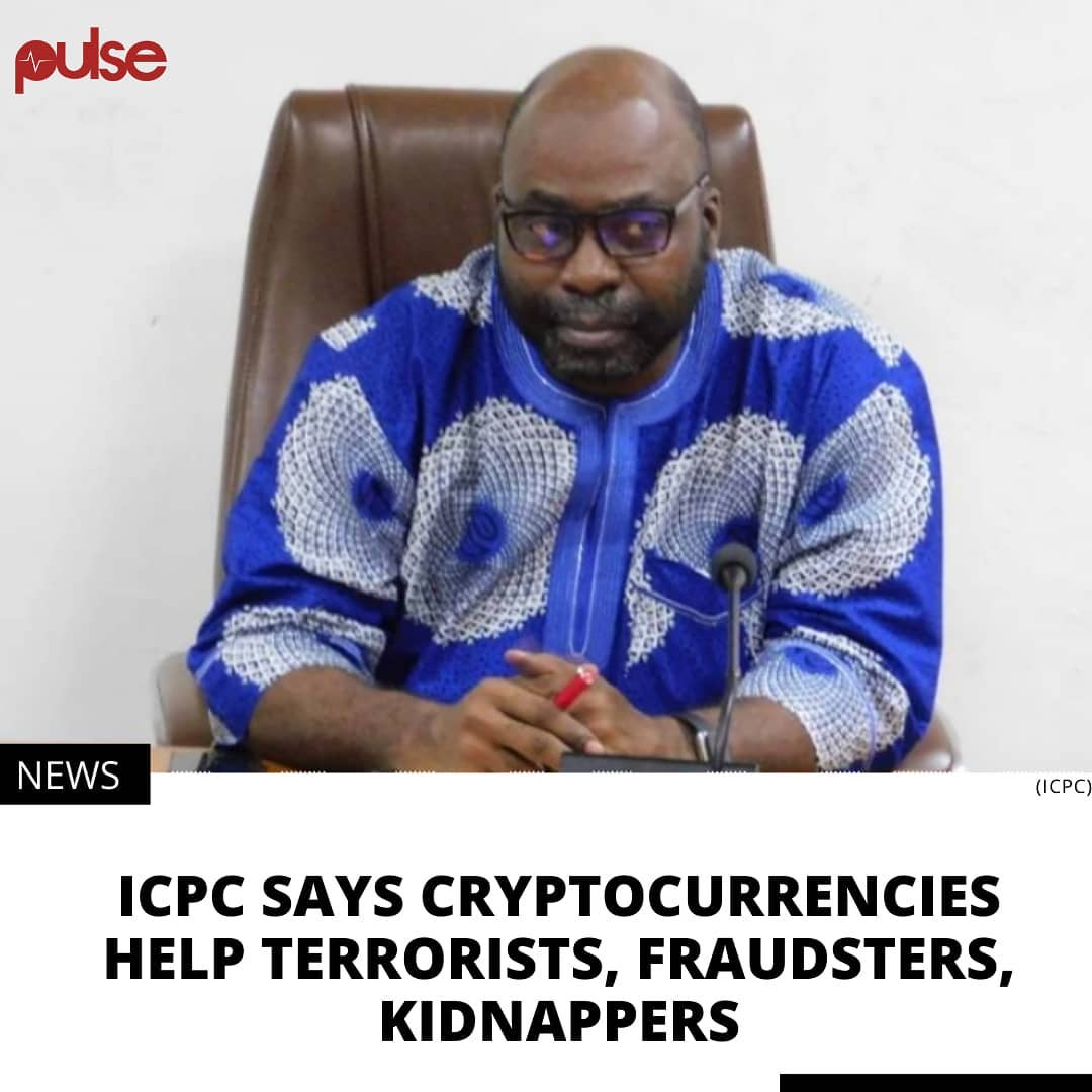 The agency says virtual assets and cryptocurrencies are risky for implementation in Nigeria. . The Independent Corrupt Practices and Other Related Offences Commission (ICPC) says the ban on cryptocurrency trading in Nigeria is important to stop criminals from using it to evade the law. . The Central Bank of Nigeria (CBN) earlier in February directed Deposit Money Banks and other financial institutions to close accounts of people using their systems for cryptocurrency trading. .