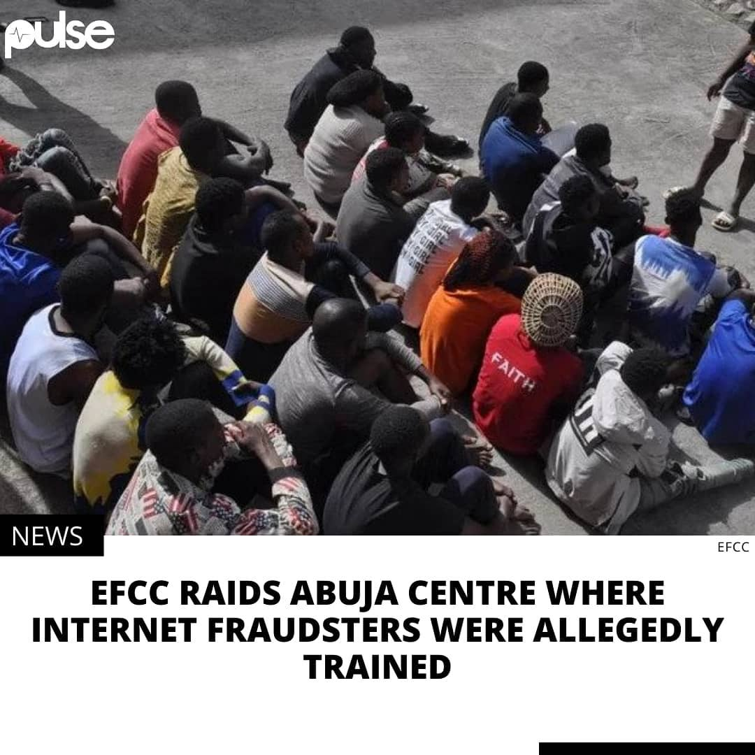 """The Economic and Financial Crimes Commission (EFCC) has arrested 27 suspected internet fraudsters at a centre where they were being allegedly trained.  The anti-graft agency said the suspects were arrested at an underworld academy where they were being groomed for internet fraud.  Operatives stormed the academy, located in Arab Contractors Area of Mpape Hills, Abuja on Thursday, February 18, 2021 based on a tip off.  The suspects arrested were mostly young school leavers between the ages of 18 and 25 years.   EFCC said the academy was run by one Emmanuel Clement before it was raided on Thursday.  """"Items recovered from the suspects include a Toyota Venza car, 30 mobile phones and one laptop,"""" the agency said.  The suspects will be charged to court after investigation is concluded. """