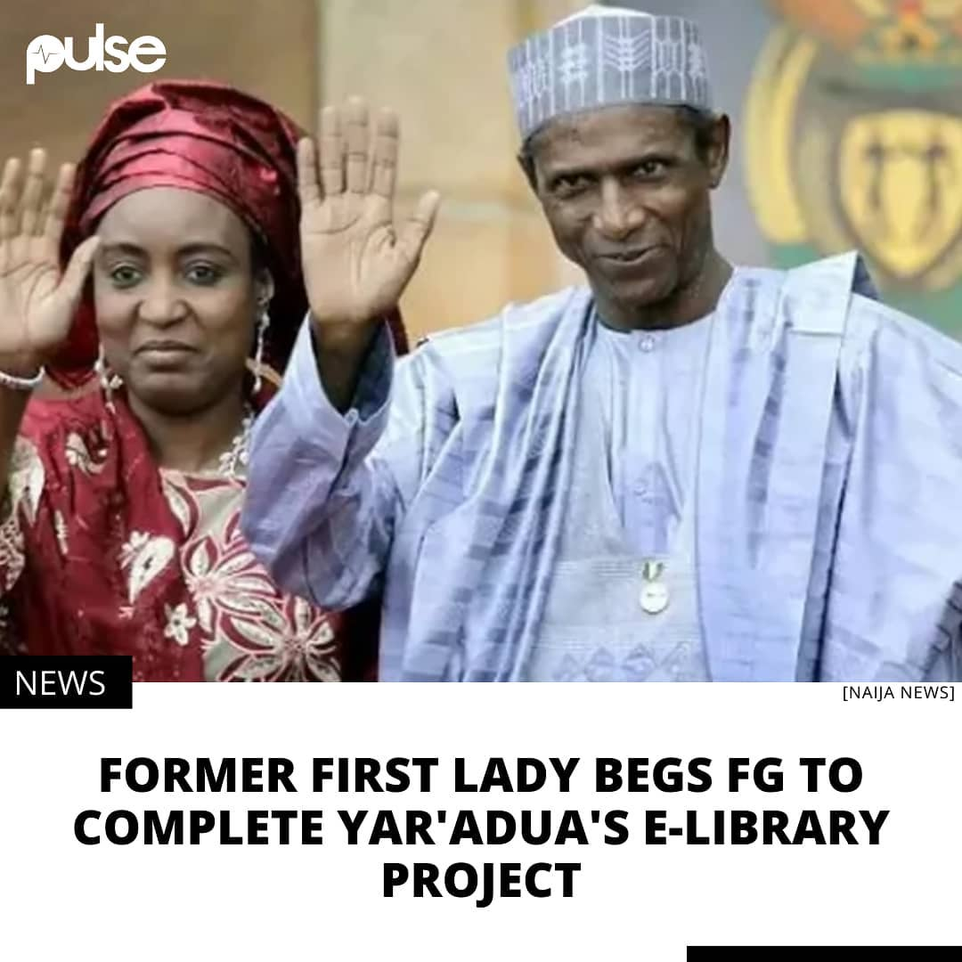 """The former first lady said e-library would go a long way to help students.  The wife of late President Umar Musa Yar'Adua, Hajiya Turai Yar'Adua, has appealed to the Federal Government to complete the e-library initiated by her late husband at the Government College, Keffi, Nasarawa State. Mrs Yar'Adua said, """"This is to remember my husband's legacies and as an alma mater of the school and due to the importance of e-library to human and societal development.""""  This is contained in a statement issued by the Secretary General of Keffi Old Boys Association (KOBA), Mr Sam Israel, a copy of which was made available to the News Agency of Nigeria (NAN) in Keffi, Nasarawa State, on Monday.  The former first lady said e-library would go a long way to help students, when addressing President General of KOBA, Engr. Edward Ujege, and his National EXCO courtesy visit to the family of late President Umaru Musa Yar'Adua in Abuja on Monday.  She said that the project, if completed, would improve the standard of education in the state and country at large.  According to her, """"I am overwhelmed with the visit, KOBA is one of the most organised old boys association in Africa.  """"There is a need to put in necessary effort in place to ensure that my late husband has a thumb of reference and remembrance in his alma mater, Government College Keffi.""""  Mrs Yar'Adua commended the effort of KOBA for remembering and identifying with the deceased family and assured them of support at all times. ."""