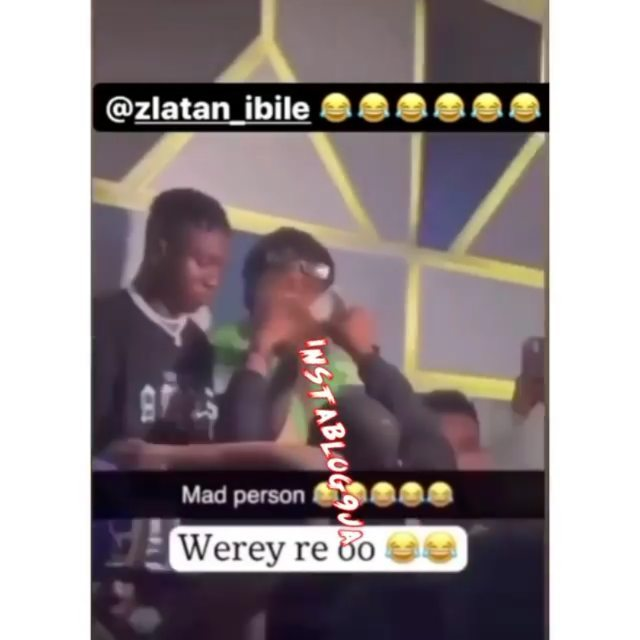 The moment rapper Zlatan Ibile saved a fan the stress of spraying money on him
