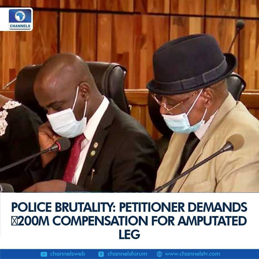 The National Human Rights Commission Independent Investigation Panel has been asked to compel the Nigeria Police Force to pay a compensation of ₦200 million to a petitioner, Kingsley Kalu who allegedly lost his left leg as a result of an accidental discharge from the rifle of Daniel Akpabio of the FCT Police Command.  At the resumed sitting of the panel in Abuja on Monday, Kalu said that his left leg was amputated in 2017 after there was an accidental discharge from the rifle of a police officer who has been dismissed from the force.  He also asked for a refund of all the hospital bills procured by him and an artificial limb, claiming the police only gave him ₦150,000 since the incident occurred.  According to the petitioner, the lawyer to the police opposed the request for compensation to be paid by the Force as he insists that the right person to compensate the petitioner is the dismissed officer, Daniel Akpabio.