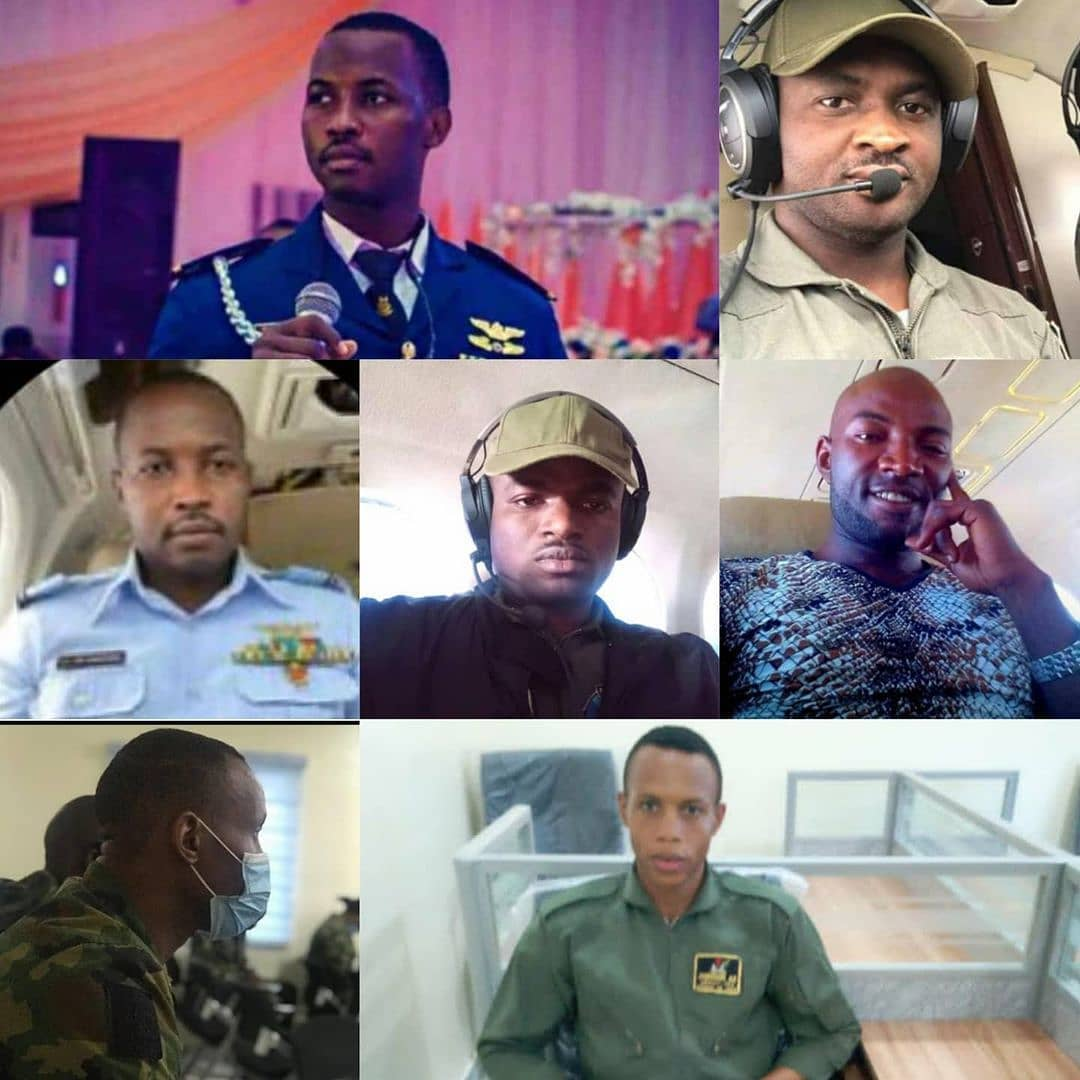 The Nigerian Air Force has released the names of the seven personnel that perished in the military aircraft that crashed in Abuja today February 21.  According to a statement released by AVM Ibikunle Daramola, the Director of Public Relations and Information, the deceased personnel include  a. Flight Lieutenant Haruna Gadzama (Captain).  b. Flight Lieutenant Henry Piyo (Co-Pilot).  c. Flying Officer Micheal Okpara (Airborne Tactical Observation System (ATOS) Specialist).  d. Warrant Officer Bassey Etim (ATOS Specialist).  e. Flight Sergeant Olasunkanmi Olawunmi (ATOS Specialist).  f. Sergeant Ugochukwu Oluka (ATOS Specialist).  g. Aircraftman Adewale Johnson (Onboard Technician).  Daramola added that the Chief of the Air Staff (CAS), Air Vice Marshal Oladayo Amao, has instituted an investigative panel to determine the remote and immediate causes of the accident.