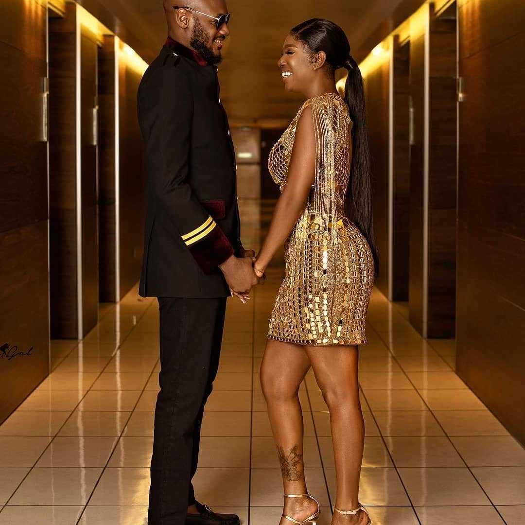 This was how it started, swipe to see how it ended. You just have to love them  @annieidibia1 @@official2baba .