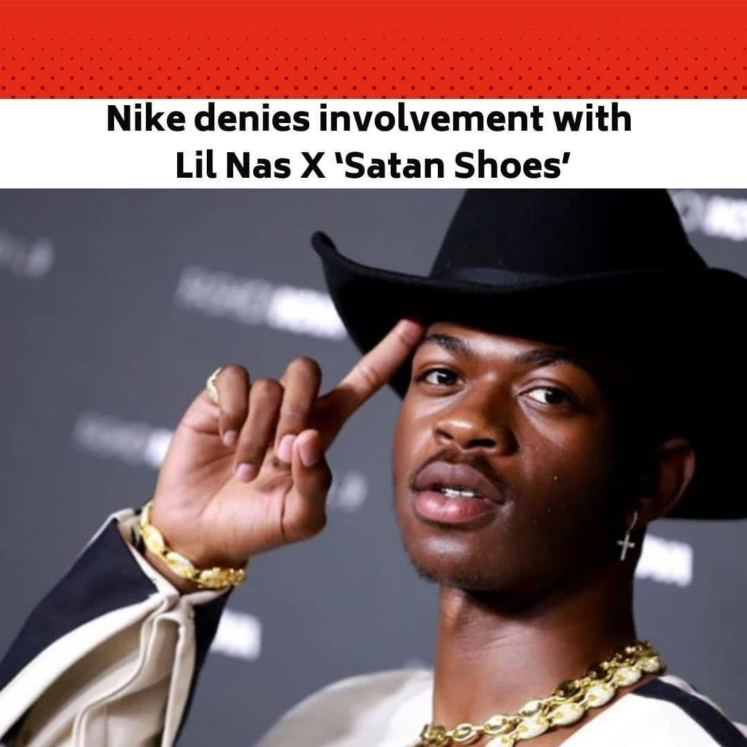 """American singer, Lil Nas X, the """"Old Town Road"""" artist, is collaborating with the streetwear company MSCHF on a pair of """"Satan Shoes,"""" only 666 pairs of which will be on sale Monday. The controversial kicks — apparently modified Nike Air Max 97s — are decorated with a pentagram pendant and a reference to Luke 10:18, a Bible verse about Satan's fall from heaven. They'll be sold for $1,018. . The sneakers also contain a drop of human blood in the sole, drawn from members of the MSCHF team, the company told NBC News. . News of the shoes drew outrage over the Palm Sunday weekend; some critics slammed both Lil Nas X and Nike. But Nike was quick to distance itself from the shoes, pointing out that they're custom adaptations of existing products. . """"We do not have a relationship with Little Nas X or MSCHF,"""" Nike said in a statement. """"Nike did not design or release these shoes and we do not endorse them."""" . MSCHF previously released a pair of modified Nike Air Max 97s called the """"Jesus Shoes,"""" which contained what it described as holy water in its sole drawn from the River Jordan. . The release of the Satan Shoes coincides with Lil Nas X's latest single, """"Montero (Call Me By Your Name),"""" and its accompanying music video. In the video, Lil Nas X is seduced out of what appears to be the Garden of Eden, falls into hell and gives the devil a lap dance. . The music video has been viewed more than 29 million times since its release Friday. . The rapper, whose real name is Montero Lamar Hill, put out a short YouTube video on Sunday titled """"Lil Nas X Apologizes for Satan Shoe."""" While holding the sneaker, Lil Nas X begins speaking, and before it gets to the advertised apology, the video cuts to the clip from """"Montero"""" of him giving the devil a lap dance. . He also tweeted a defence of the shoes Sunday. . After the release of the song Friday, Lil Nas X put out an open letter to his younger self about coming out. The rapper, who is openly gay, explained that the song was about a guy h"""