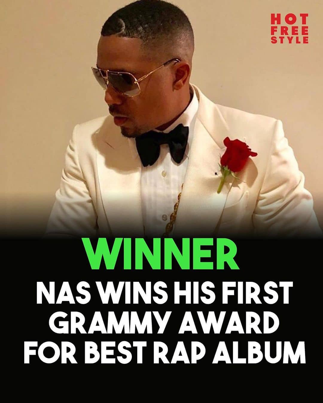 Congrats to Nas on winning his first Grammy for Best Rap Album!