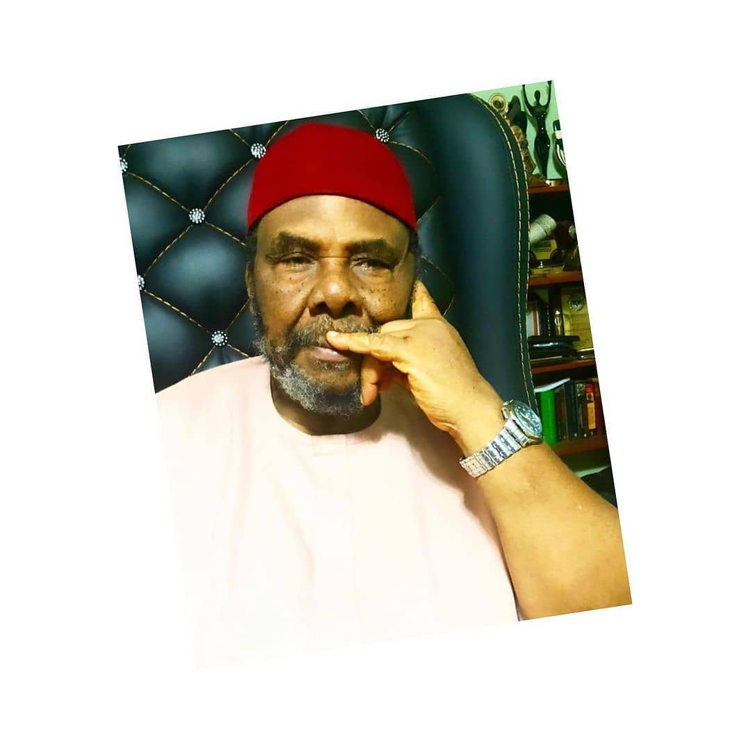 """Feminism should be blamed for domestic violence — Pete Edochie . . Veteran Nollywood actor, Pete Edochie, has blamed feminism for the increase in the domestic violence incidents against  married women. . . In an interview with BBC Igbo, the thespian said, """"Feminism isn't something black people are known for. Once a woman leaves her parents to meet her husband and takes his surname, she is to be submissive to him.  . . If she wasn't married, she can do whatever she wants. Our women now plunge into feminism nowadays. They can't even keep their husbands anymore. Is that a good thing?  . . These women are schooled but a lot of wives now can't even cook — one thing that a woman should be good in so as to be able to keep her husband. . . My mother was not educated but she would cook all sorts of soups. My father would always get back home hurriedly to eat what his wife had cooked. Today, our wives can't even cook anymore.  . . Women who can't cook aren't supposed to call themselves women. And feminism is what causes women to be beaten up in marriages. You complain to a woman and she retorts. . . It becomes unbearable, so you stretch your arm and deal her a slap. Domestic violence starts. I don't like seeing women crying because it hurts me deeply. But it is the fault of the woman herself a lot of times. . . To be honest, the understanding of women is low. I'm not a misogynist but I've associated with them a lot, even at work. Feminism has no place in our culture. We don't worship women as the whites do. . I'm a strong adherent of culture. Kneeling to put a ring on a woman's hands is not our culture. Any man who does that transfers the headship of his family to that woman. Until my dad died at 96, he never knelt to propose. . It's just like kneeling down on entering a church because there's a higher being to whom you're paying respect. Men climb trees to tap palm wine. How does it look if women do the same? Today women dictate to men. . It wasn't like that in our days. How"""
