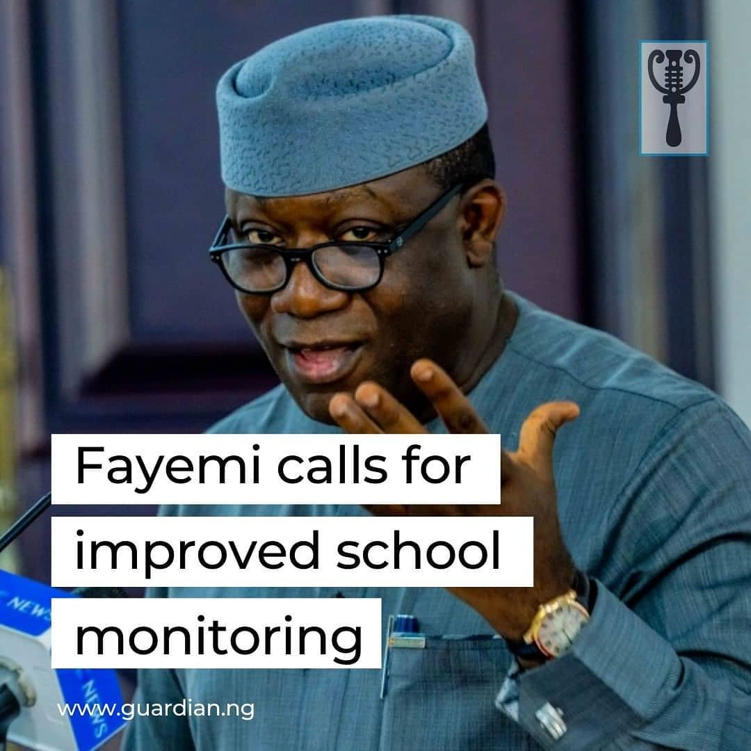 Gov. Kayode Fayemi of Ekiti has urged the Universal Basic Education Commission (UBEC) and the Federal Ministry of Education (FME) to improve the mechanism for school monitoring and evaluation of projects. He said this would promote quality education in the country.  The governor made the statement when the Chairman of the House of Representatives Committee on Basic Education, Prof Julius Ihonvbere, led other members on a courtesy visit to him on Saturday in Ado Ekiti.  It was reported that the committee, as part of its oversight functions, was in the state to inspect basic schools and ensure that funds released by the Federal Government for execution of projects were judiciously utilised.  The governor also informed the committee on the need for the Federal Government to suspend counterpart funding as part of the basic requirements for states to access Federal Government's UBEC funding.  Fayemi lamented that the backlogs of funds domiciled in the UBEC account was a function of the inability of some states to raise counterpart funds to access it. 