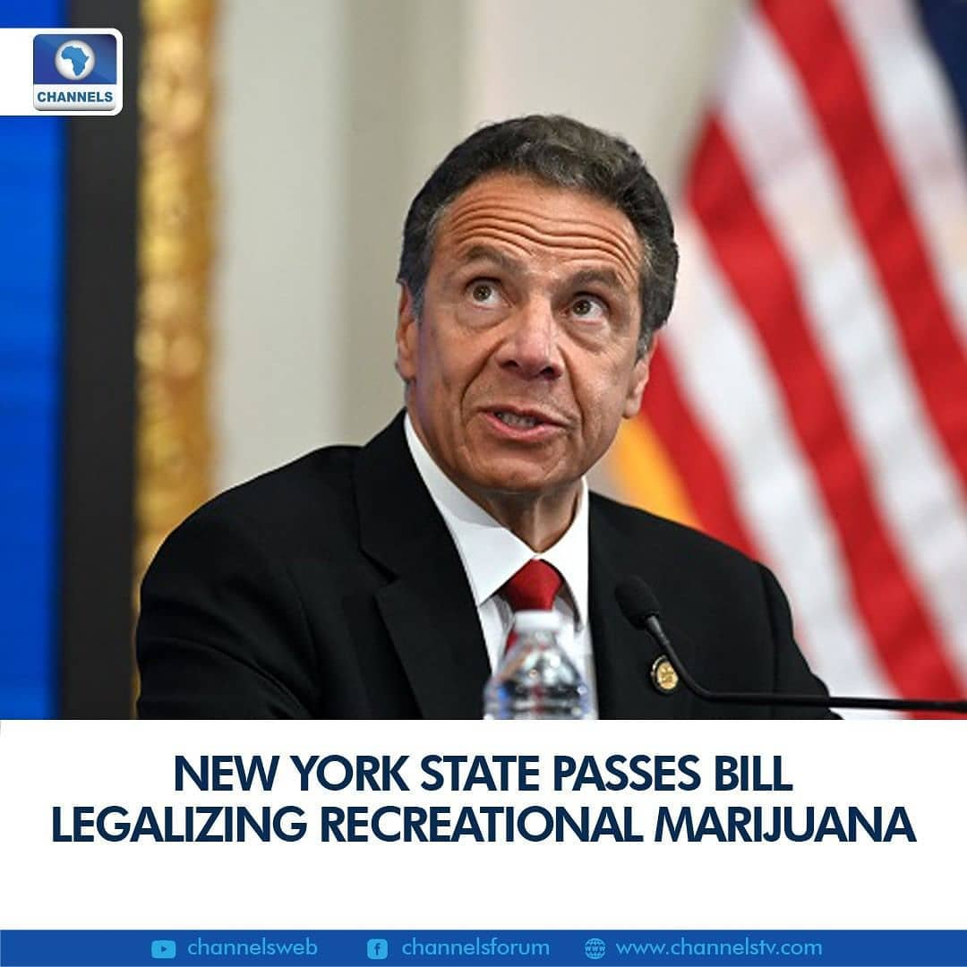 "New York state lawmakers passed a bill Tuesday legalizing recreational marijuana, with Governor Andrew Cuomo saying he would sign it into law.  New York will join 14 other US states and the District of Columbia in permitting cannabis use after the bill was backed by both state chambers, where Cuomo's Democratic Party holds strong majorities.  ""For too long the prohibition of cannabis disproportionately targeted communities of color with harsh prison sentences,"" Cuomo said in a statement.  ""This landmark legislation provides justice for long-marginalized communities, embraces a new industry that will grow the economy, and establishes substantial safety guards for the public.""  Cuomo's office has said the change could net an additional $350 million in annual tax revenues and create tens of thousands of jobs.  The law will allow adults 21 and over to purchase cannabis and grow plants for personal consumption at home, with a plan to divert some funds to drug treatment and education.  New York would automatically clear records of people with past convictions of marijuana-related offenses that would no longer be criminalized.  The law would also eliminate penalties for possession of up to three ounces of the drug (85 grams), the new personal possession limit. An existing medical-marijuana program would be expanded.  The state plans to tax marijuana sales at nine percent, with revenues from an additional four-percent tax divided between local and county government.  The move comes as Cuomo faces an investigation over an alleged pattern of sexually harassing and intimidating women employees, as well as accusations his administration orchestrated a cover-up of nursing home deaths related to Covid-19."